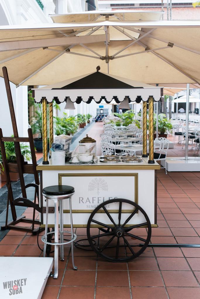 Ice Cream Cart at The Raffles Hotel Singapore