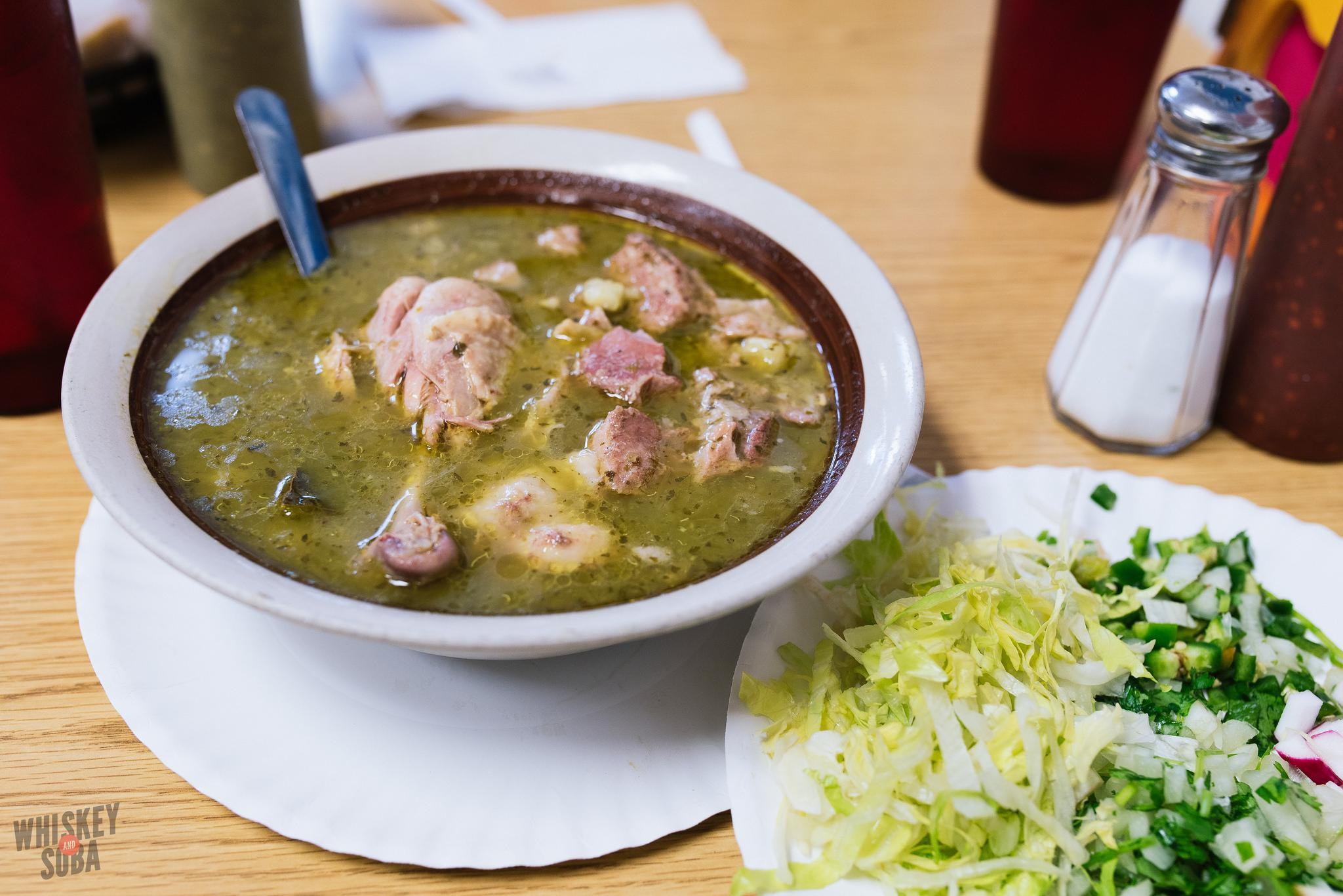 la tejana taqueria posole verde soup st.louis