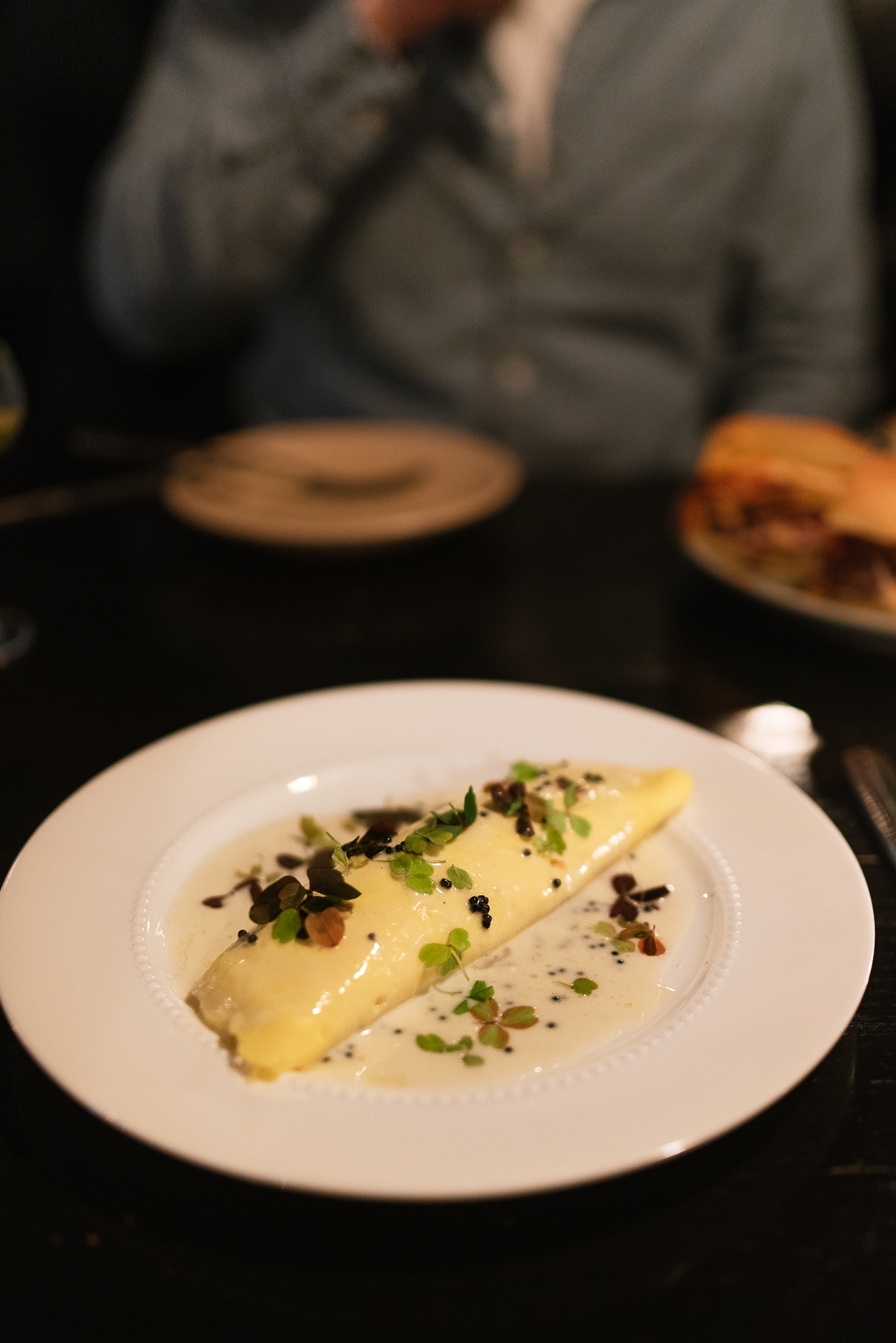 omelette - camembert, koji beurre blanc, caviar