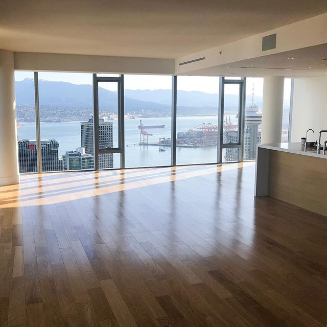Here are some more before photos of the penthouse project we are currently working on.  We can't wait to show you the final project! This flooring is being replaced by new, beautiful brushed oak hardwood — stay tuned! - #solconstruction #vancouverluxury #vancouverhomes