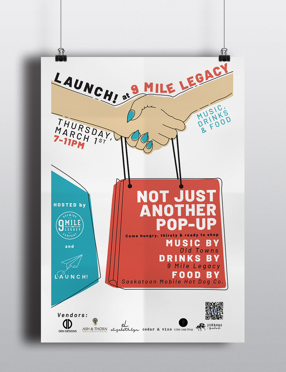 Launch! Poster Series - A custom illustrated poster series created for Launch! YXE.