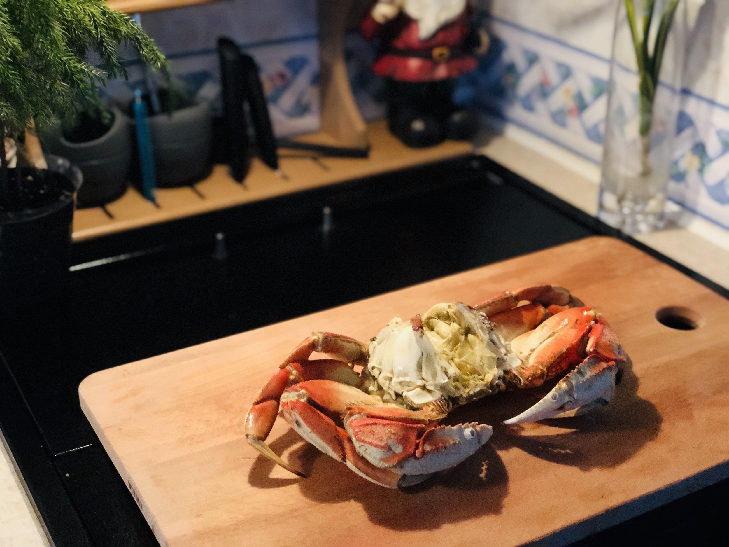 Fresh Crab Legs for Dinner