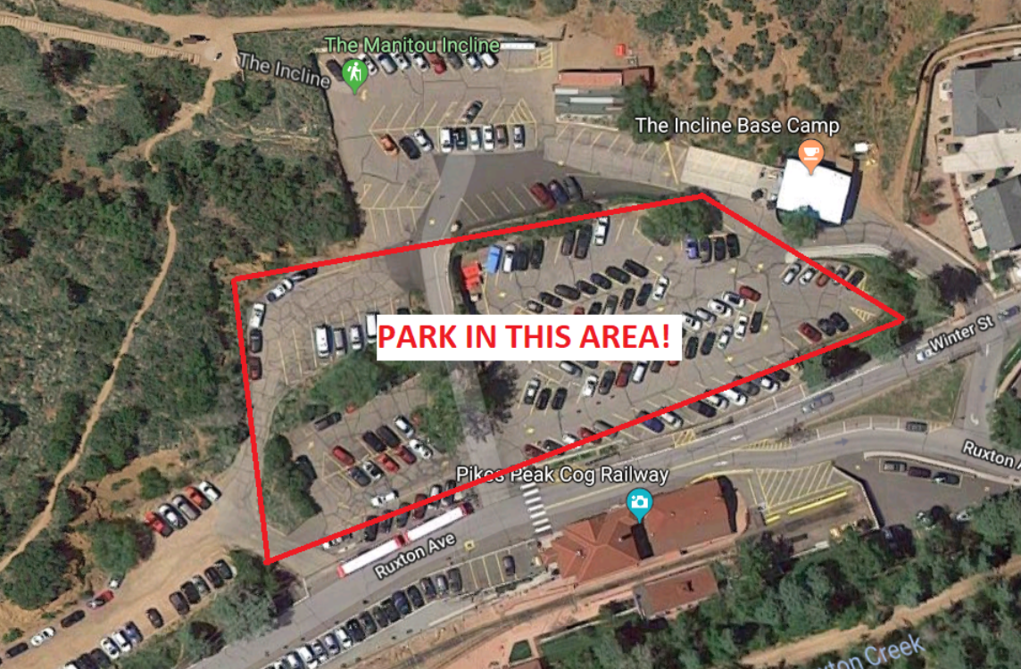 very detailed image of only parking option for an rv