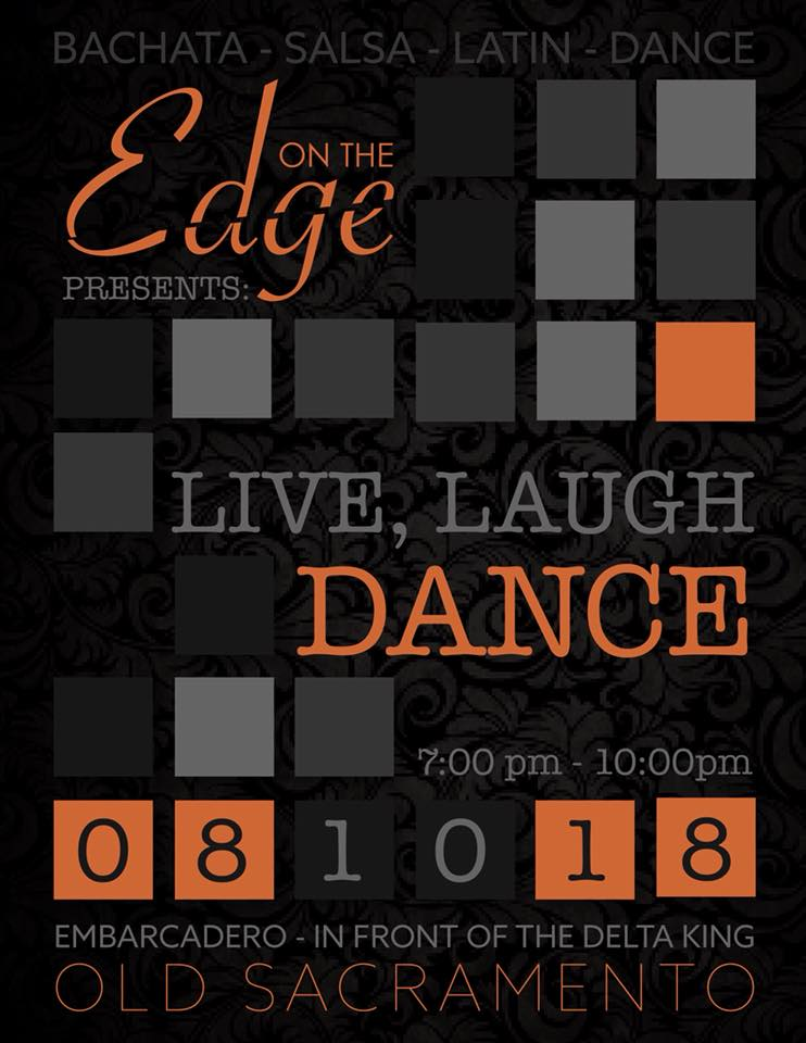 Live. laugh. dance. - August 10th 2018