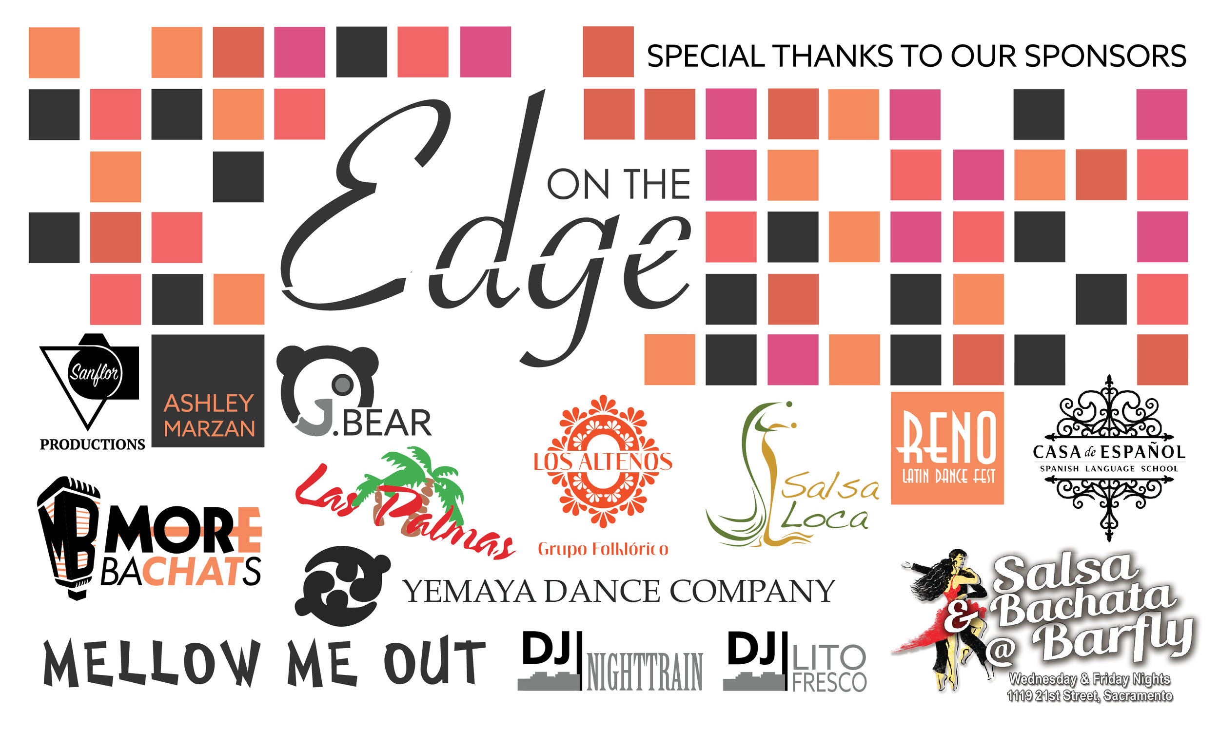 Be on the edge - Want To Support Our Mission?We are looking for sponsors, vendors, & partners for our next events.