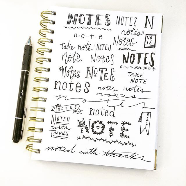 Very important note taking 🖊 . #meetingdoodles #handlettering #notes #bulletjournal