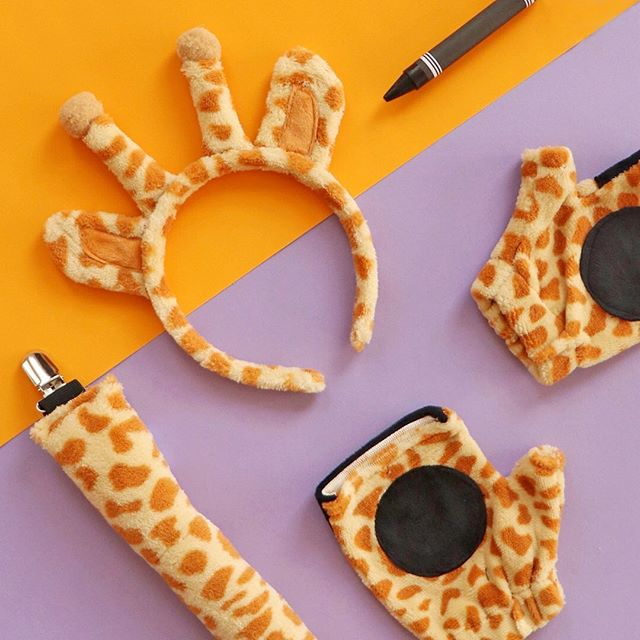 If you know me, you know that two of my favorite things are Halloween and giraffes 🦒🎃 . So I'm very excited to announce the giraffe costume (and a few others) I designed for @target with @madeforretail is now in stores!! Find them in #bullseyesplayground . What are you going to be for Halloween this year? . #halloweencostume #productdesign #flatlay #giraffecostume #designersoninstagram
