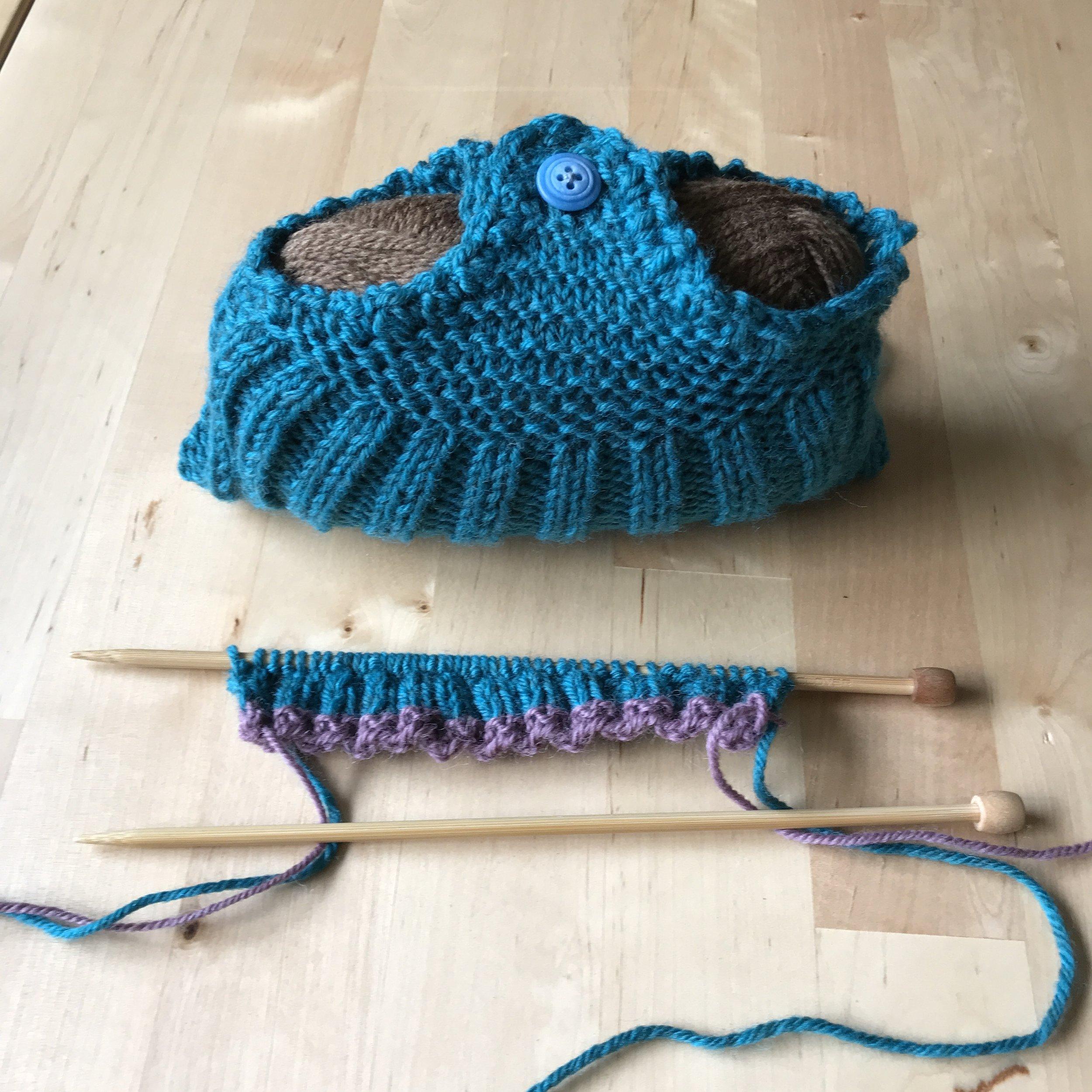 Harry's recreation of Granny's slipper.