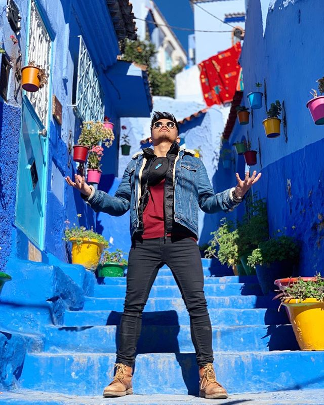Takin over #chefchaouen #honeymoon #thiccomode #rainmaker #droughtseason