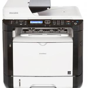 SP 377SFNwX Black and White Laser Multifunction Printer