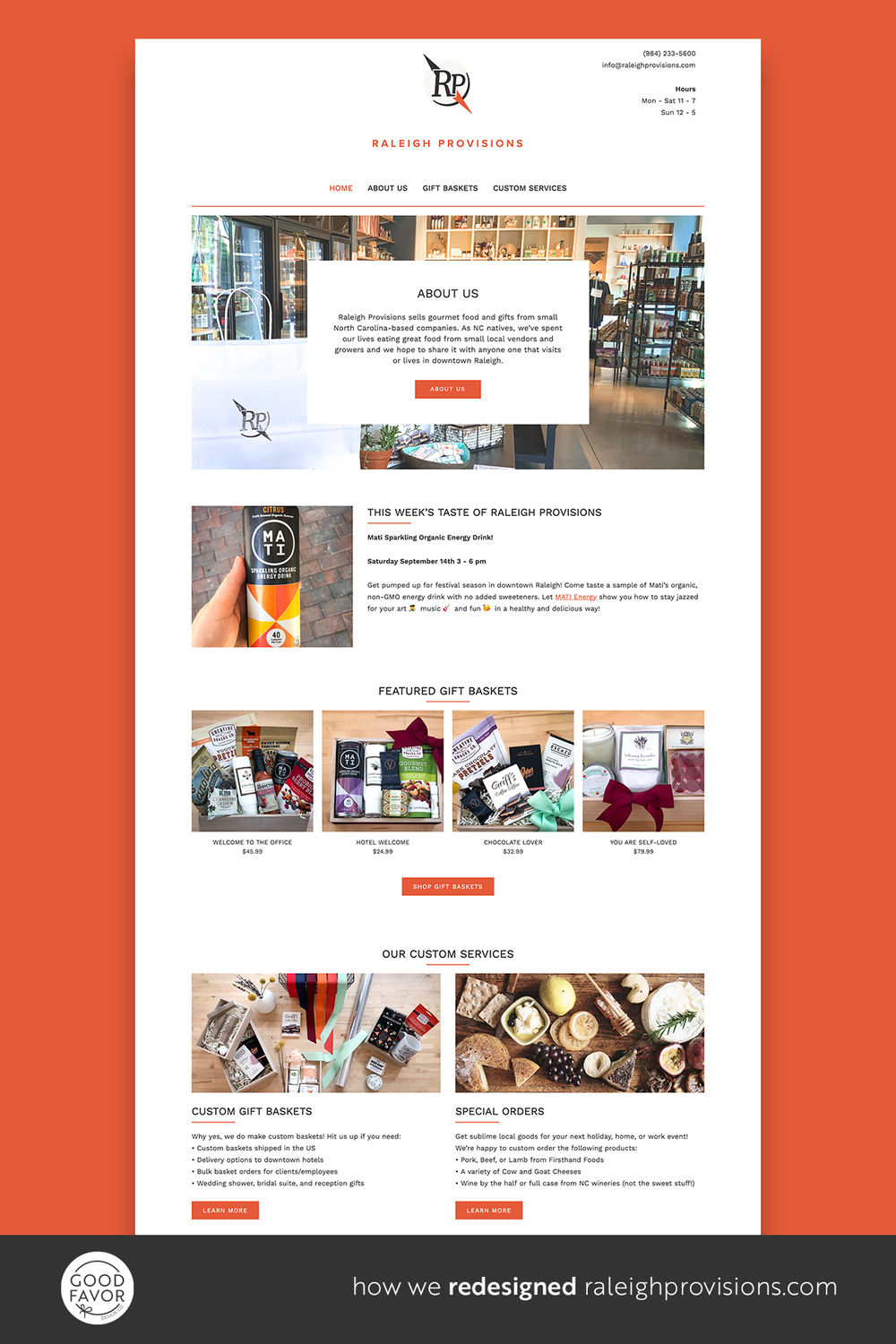 How we redesigned raleighprovisions.com