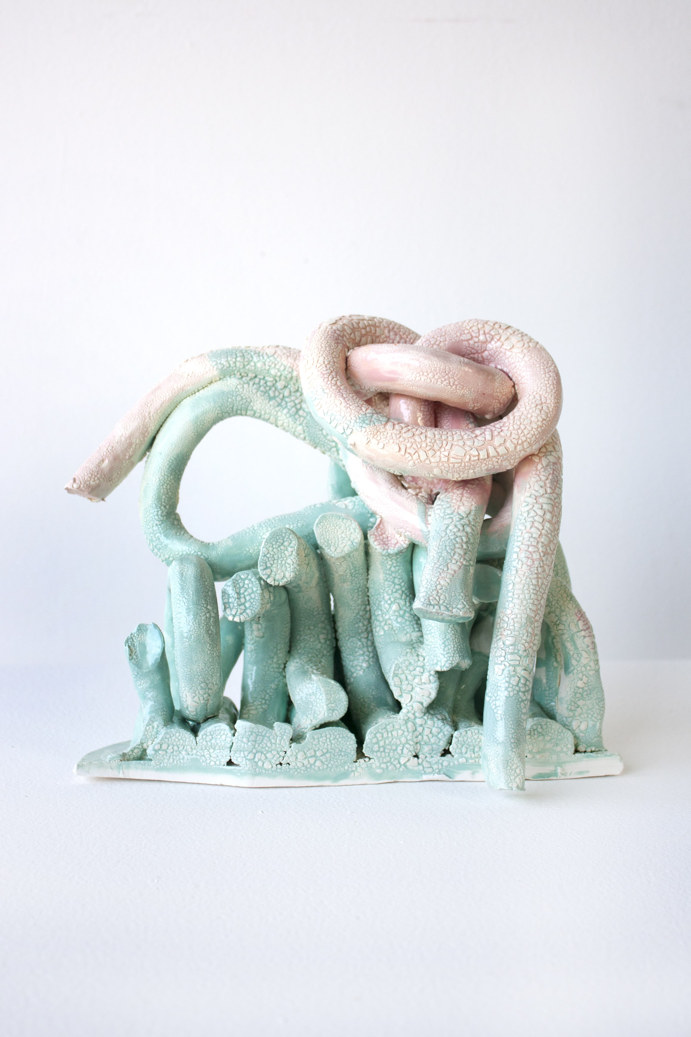 Turquoise and Pink Pile