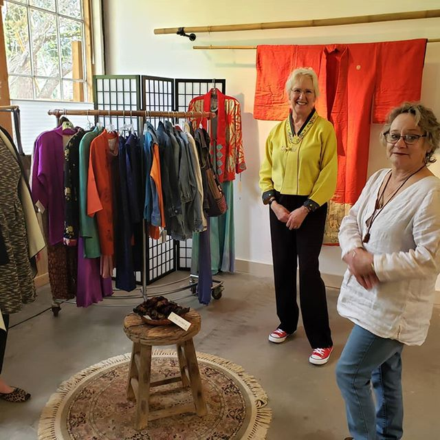 Pop by our pop-up! Textile artists Sally Shivers, Roxy Hathaway and Nancy Weinker offering select creations at 15% off!
