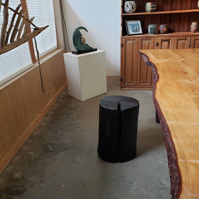 Join Paul Clark today at the Gallery at 2pm for a demonstration of Japanese wood charring (yakisugi). @juddcreekranch #paulclark #vashonarts #woodcraft #japanesefolkart #yakisugi #shousugiban