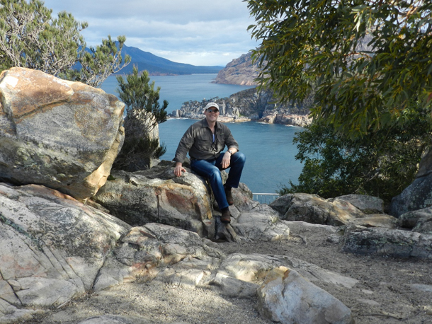 David Kopacz, MD at Freycinet National Park, Tasmania, Australia (photo credit: Mary Pat Traxler)