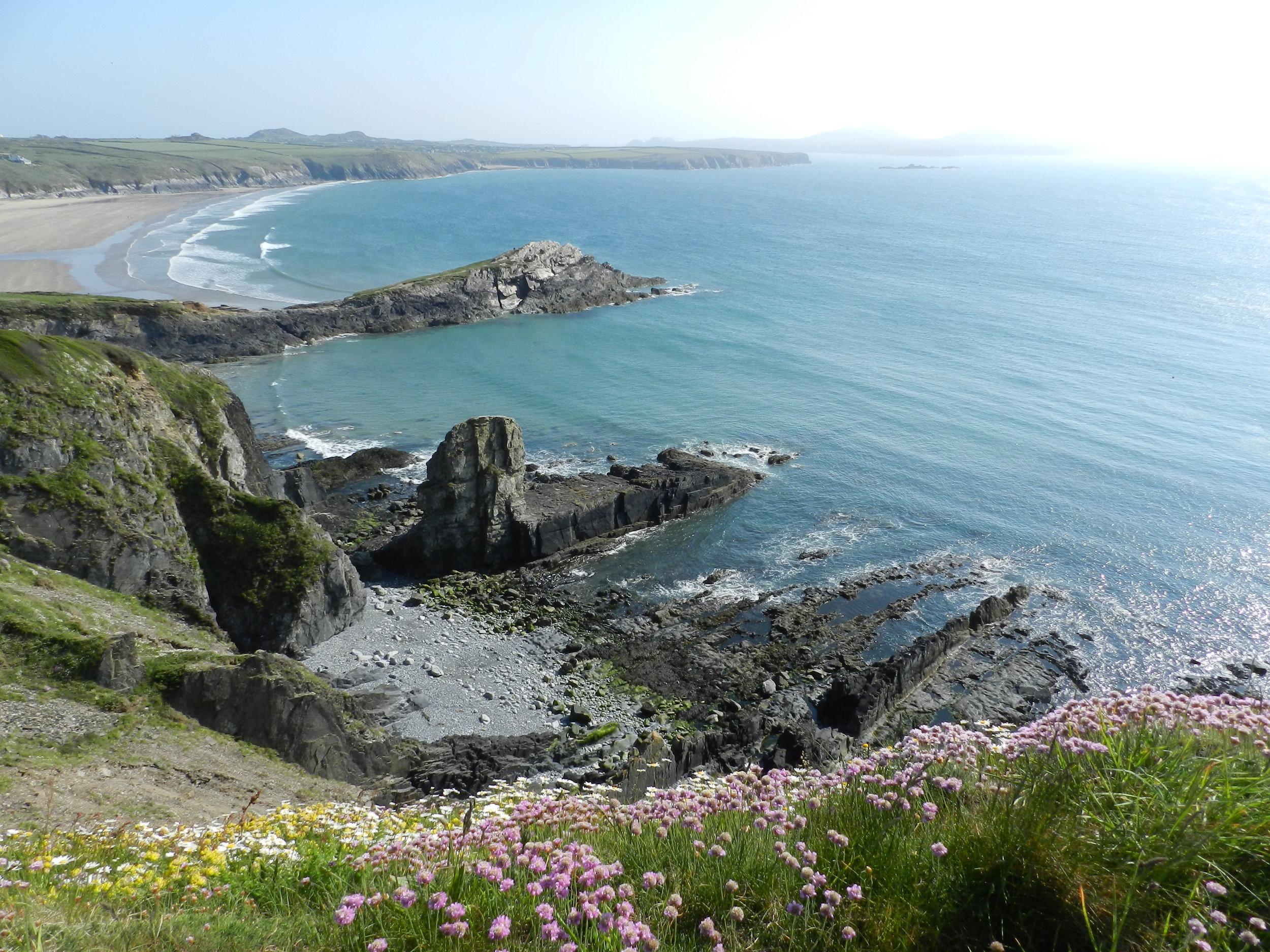 Whitesands from St. David's Head (Penmaen Dewi), Pembrokeshire, Wales