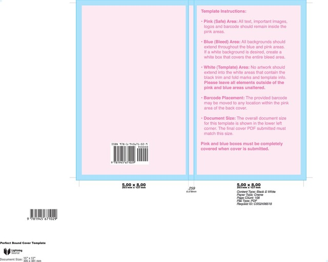 Self-publishing cover template from ingram.