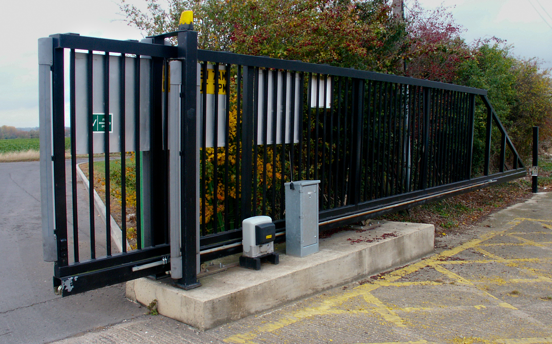 electric gates - As well as providing easy control of access to your property or business, automatic gates can be monitored as part of your home security system with the use of CCTV surveillance cameras and having the gate alarmed to prevent unauthorised access.