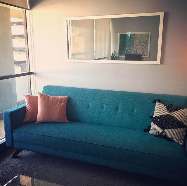 Come have a seat 🛋 (Hint: The couch is super comfortable) #therapy #goldenhourtherapy #psychologist #psychology #behaviortherapist #childpsychologist #cbt #science #anxiety #depression #depressionhelp