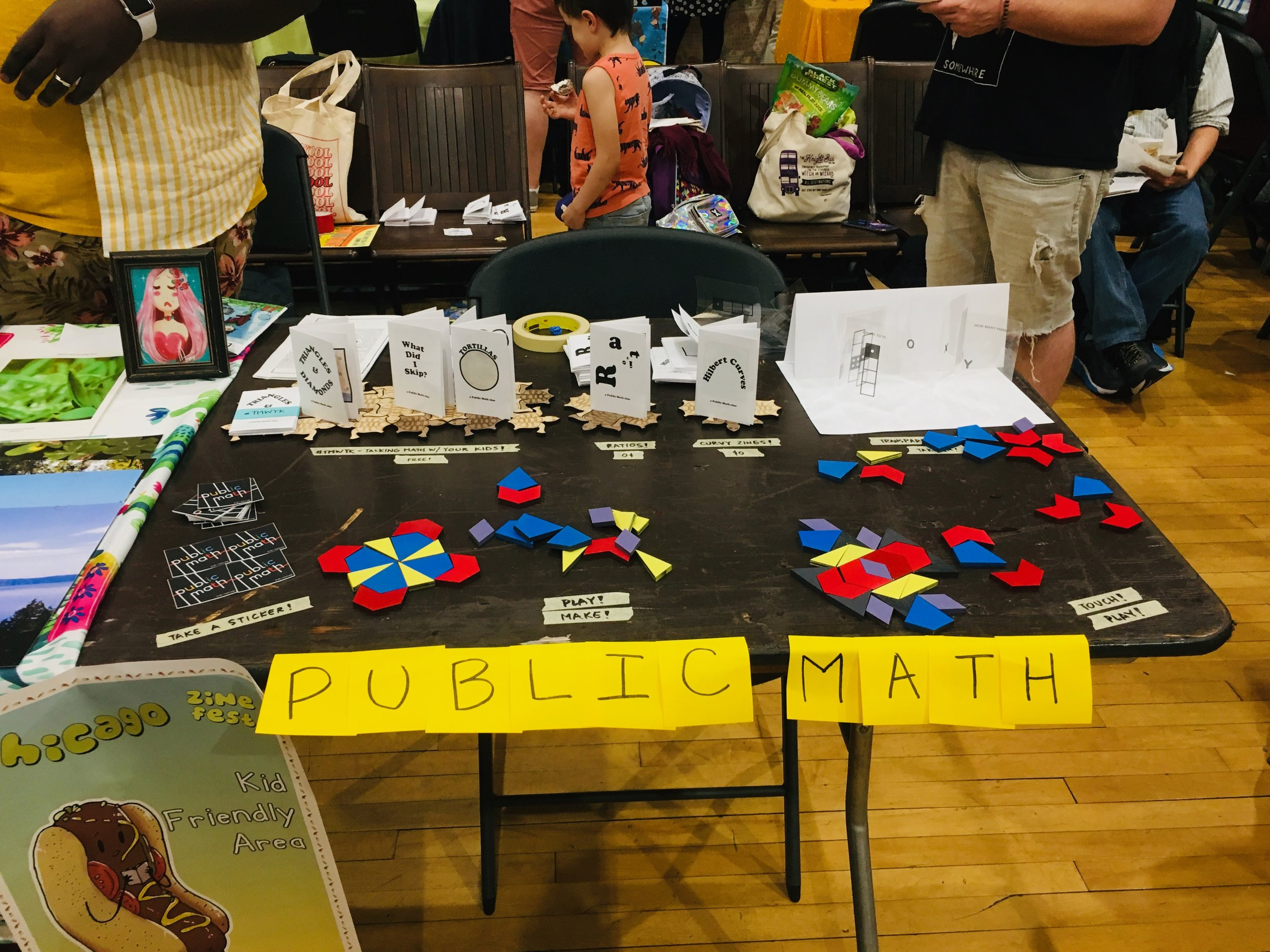 The Public Math zine table!