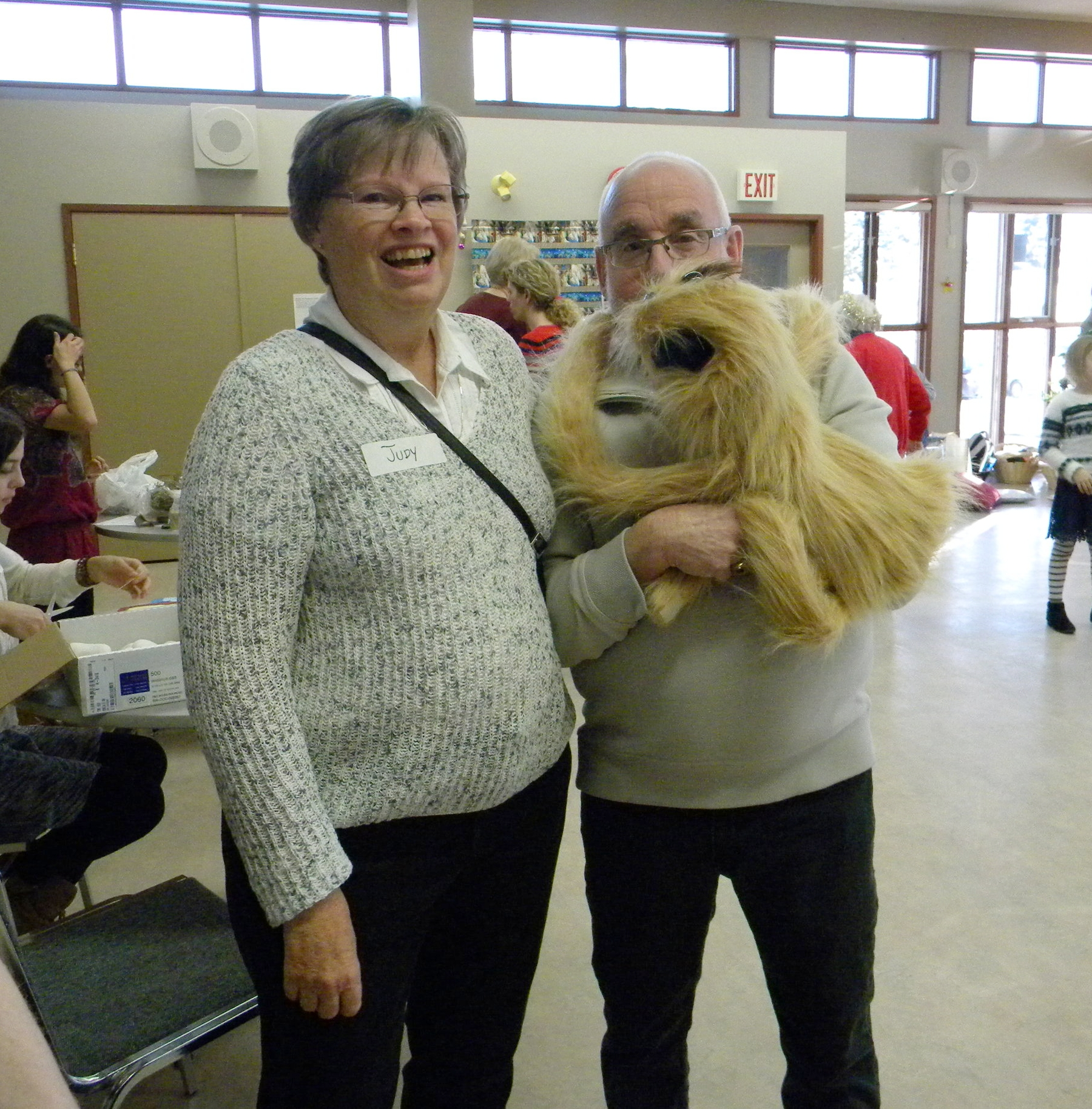 Judy and Ron with puppet.JPG