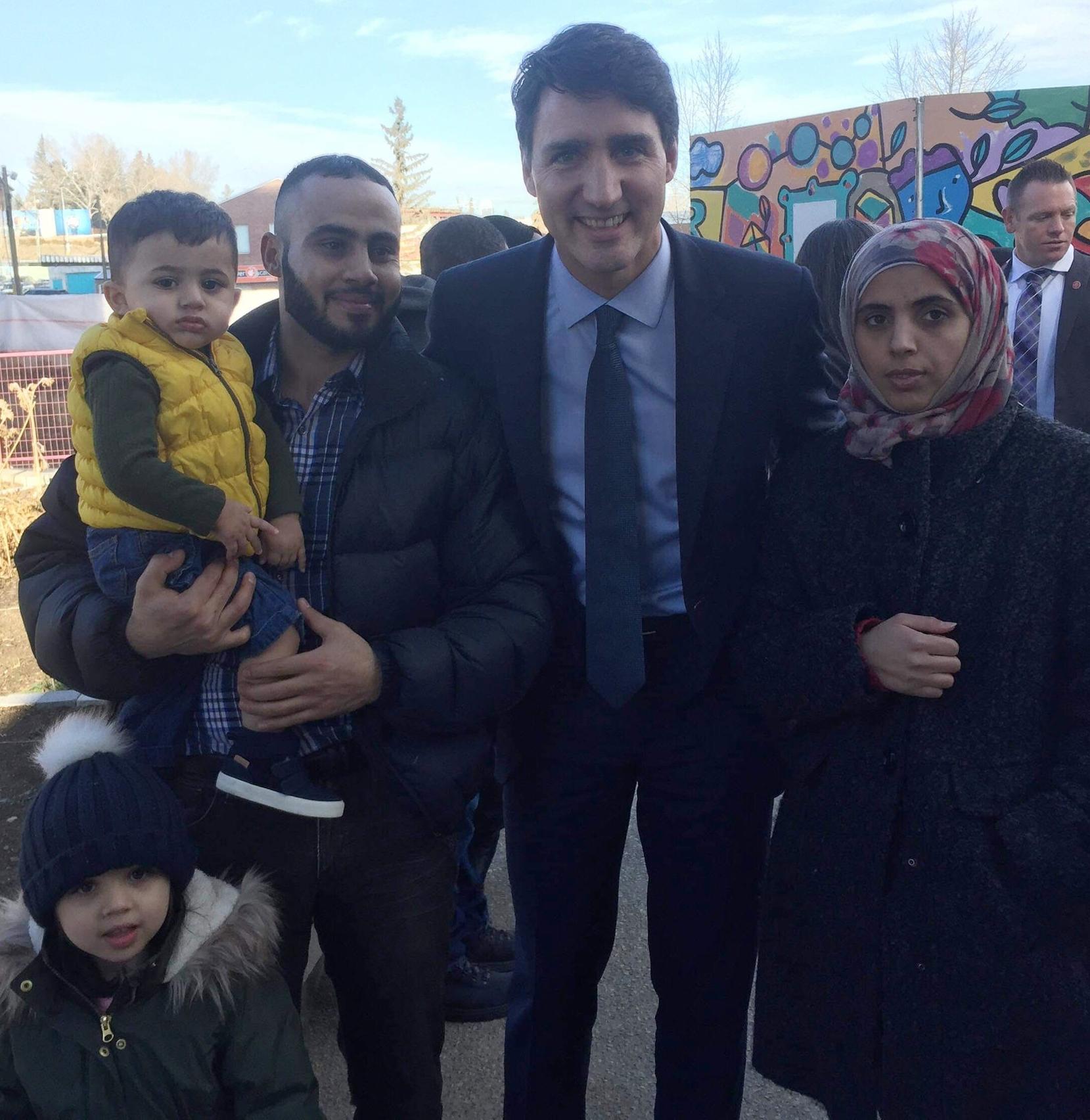 Amolfi Family with Trudeau.jpg