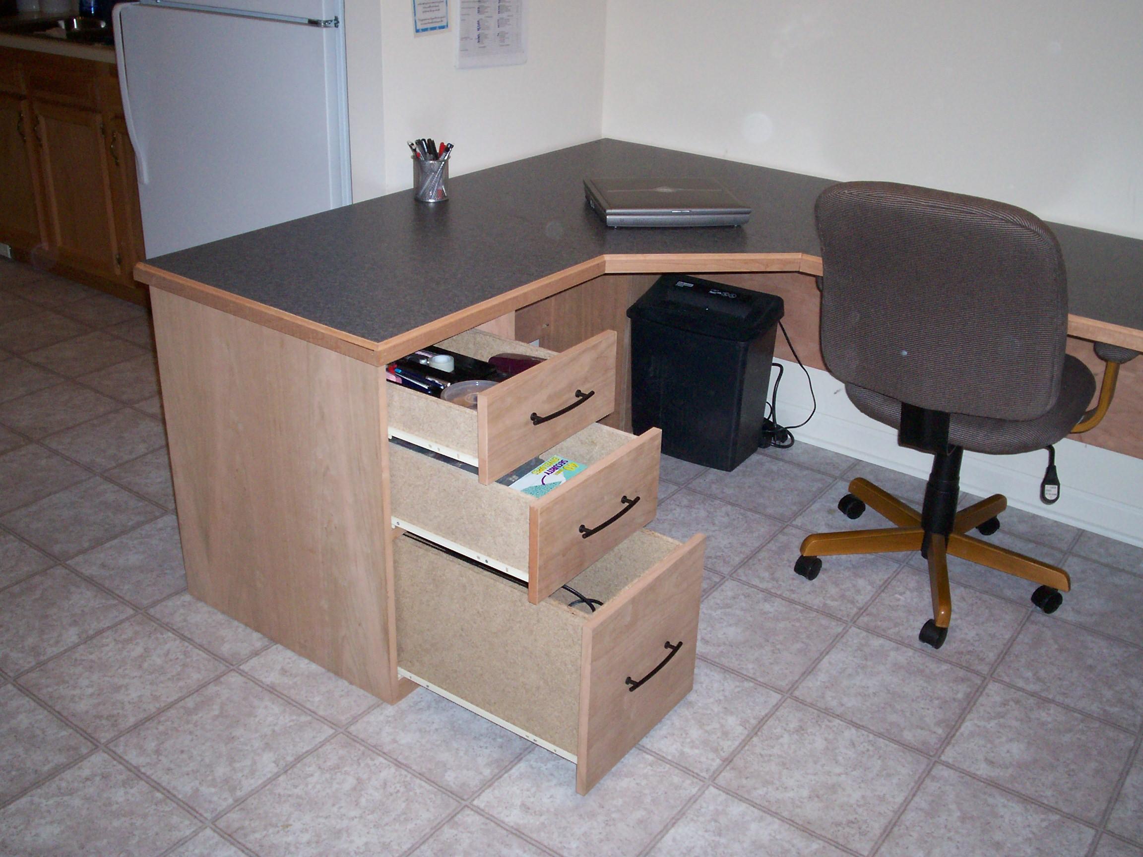 A U-Shaped Cherry Desk!
