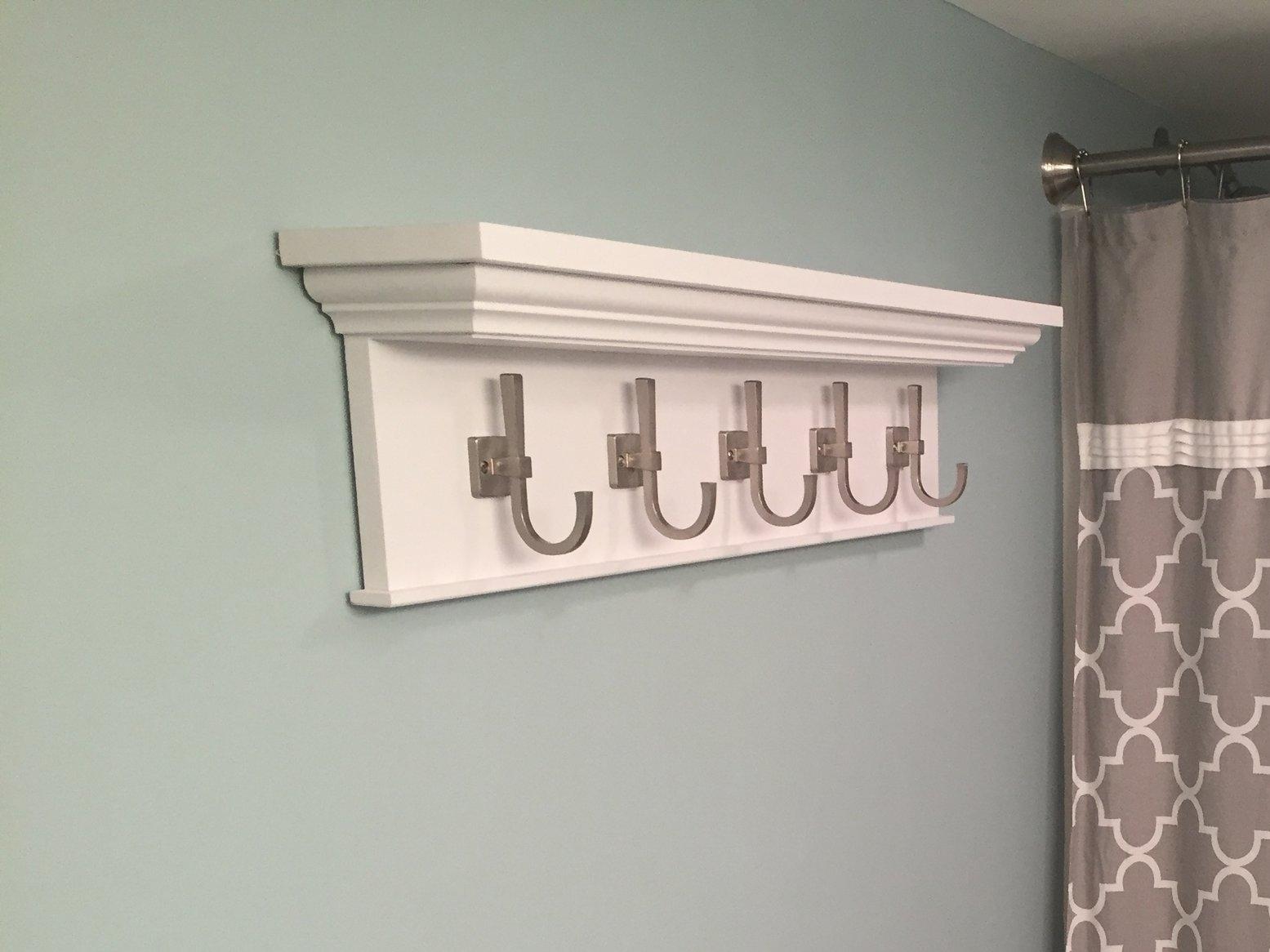 A Custom Towel Rack and Shelf!