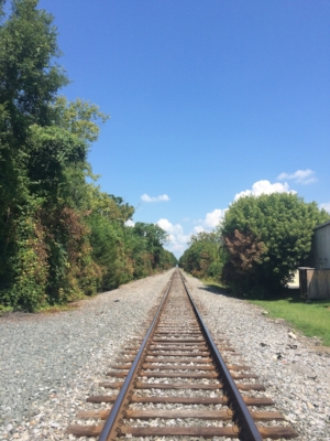 Railroad tracks in Hagerstown, MD. I may not know what lies ahead, but I am staying on the path!