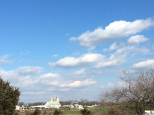 The lovely countryside of Hagerstown, MD.