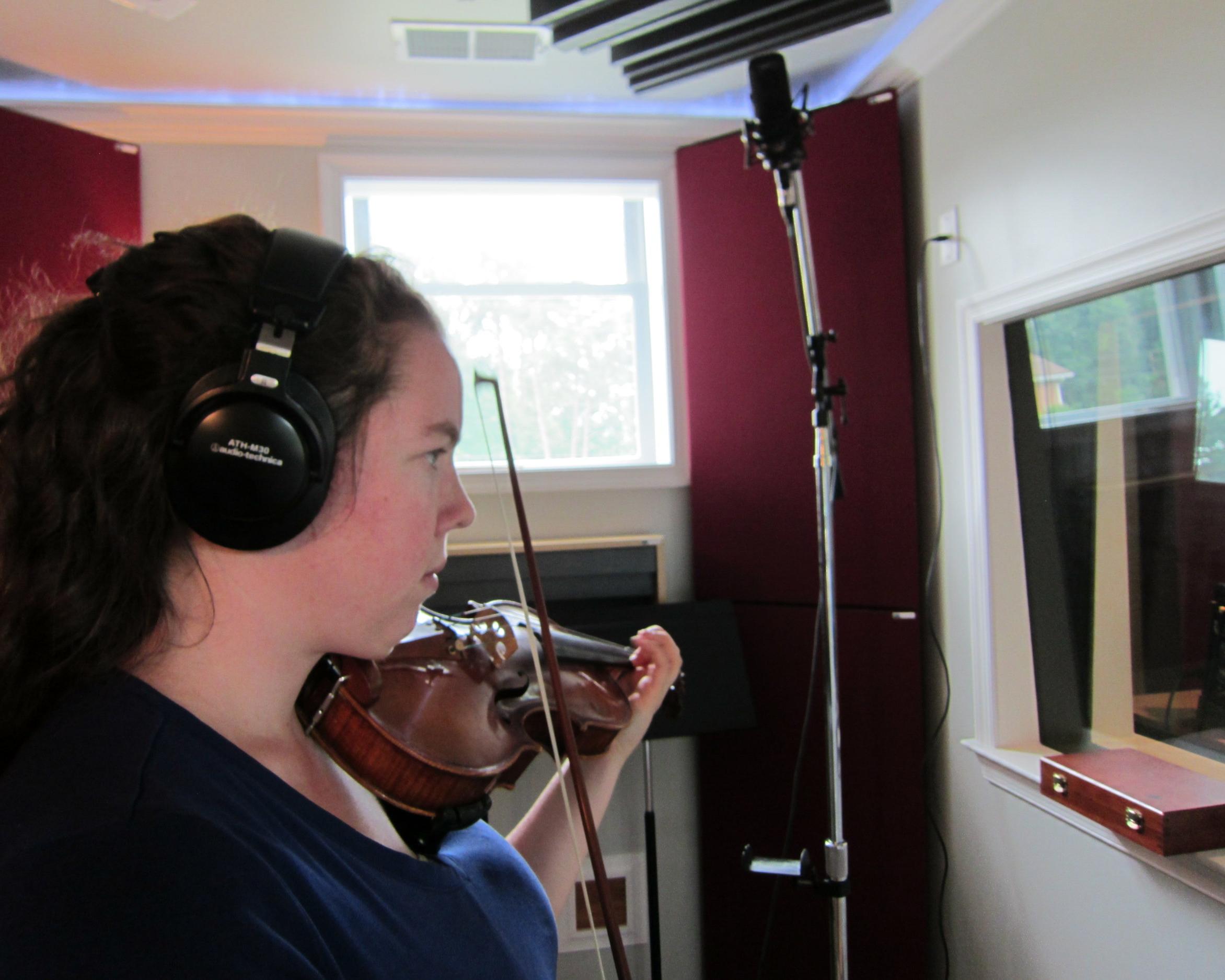 Green Room Recording Violin.JPG
