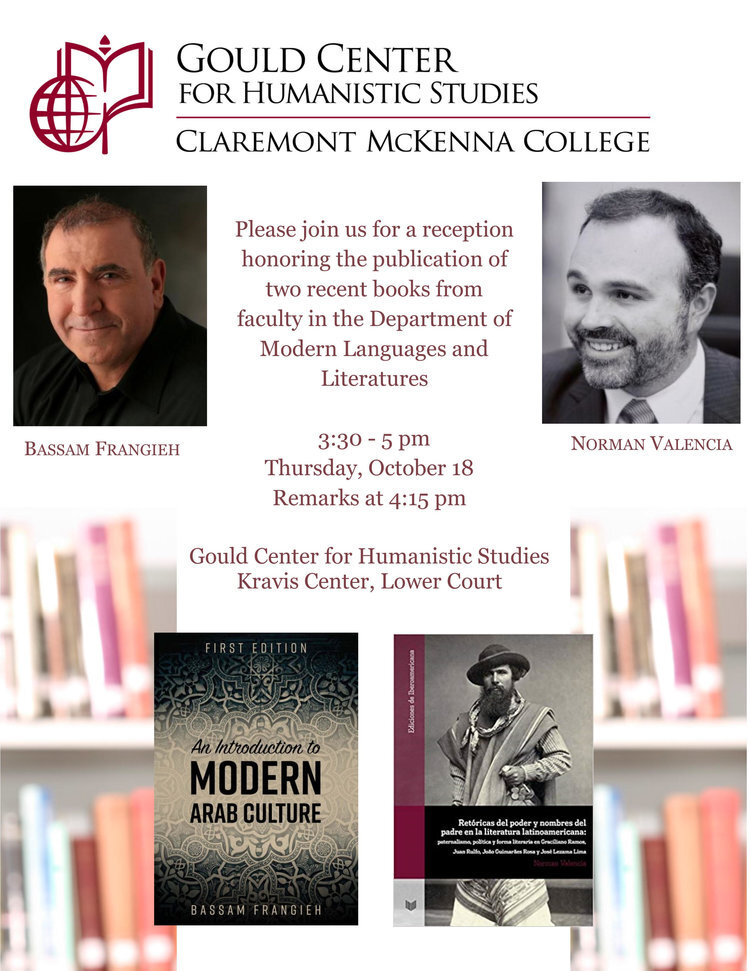 - BOOK RECEPTION FOR PROFESSORS FRANGIEH AND VALENCIA OF THE MODERN LANGUAGES AND LITERATURE DEPARTMENT