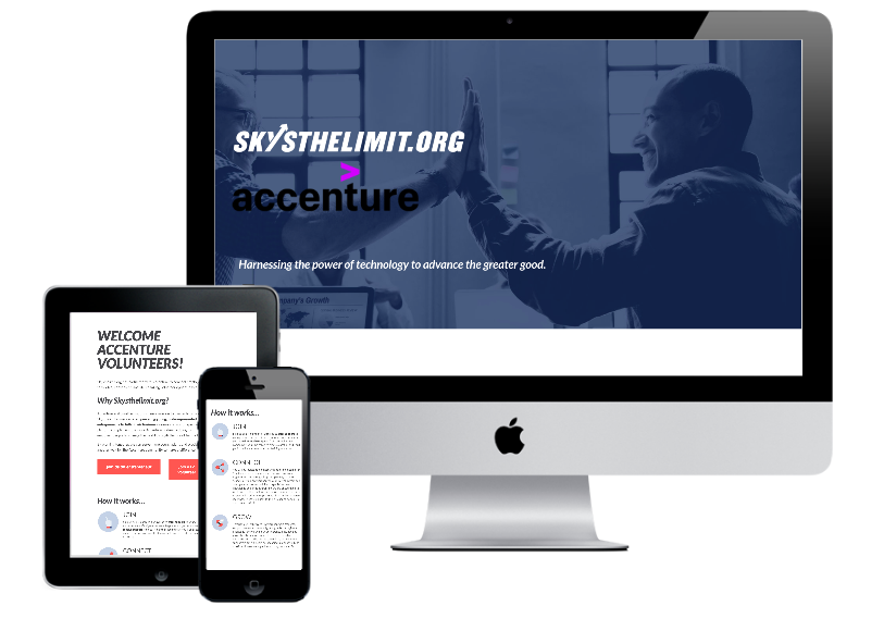 Custom Landing Page for Accenture Partnership