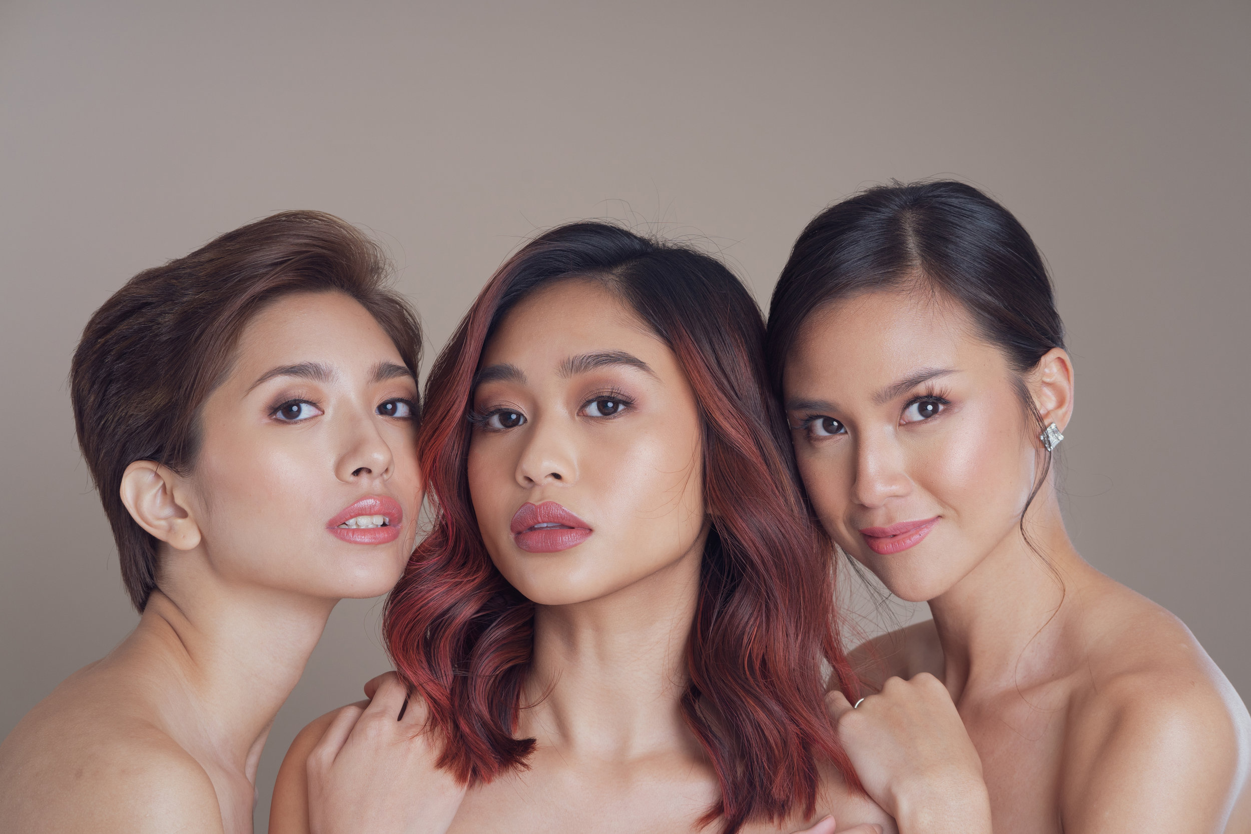 Models: Gabbie Abesamis, Zap, Sara de Guzman  Photo by James Lontoc  Hair by Albert Muyo  Makeup by Poi Jakosalem