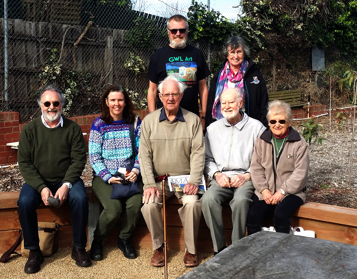 Victorian Wellspring people meet in the Womijeka Reconciliation Garden, Glen Iris, suburban Melbourne. August 2018 Photo AJS