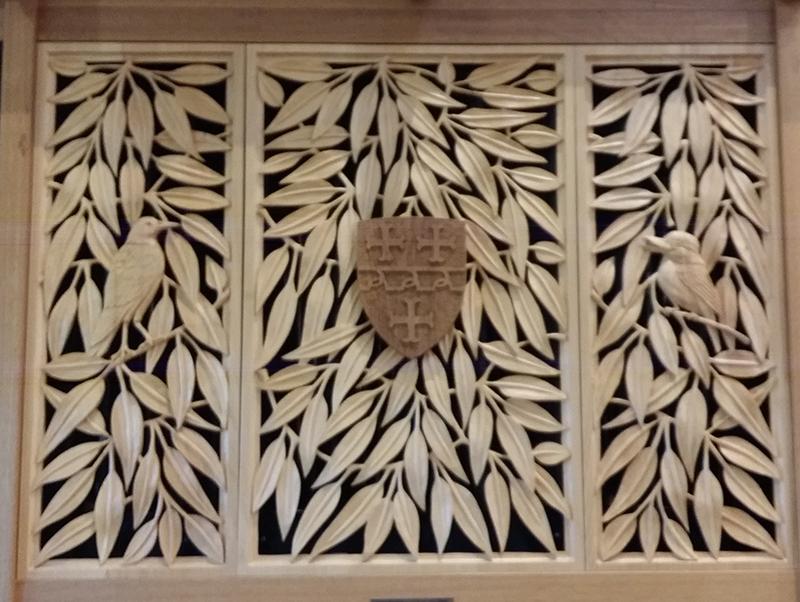 Organ detail, St John's College Chapel, University of Queensland - July 2018   Photo. Alexander Scutt