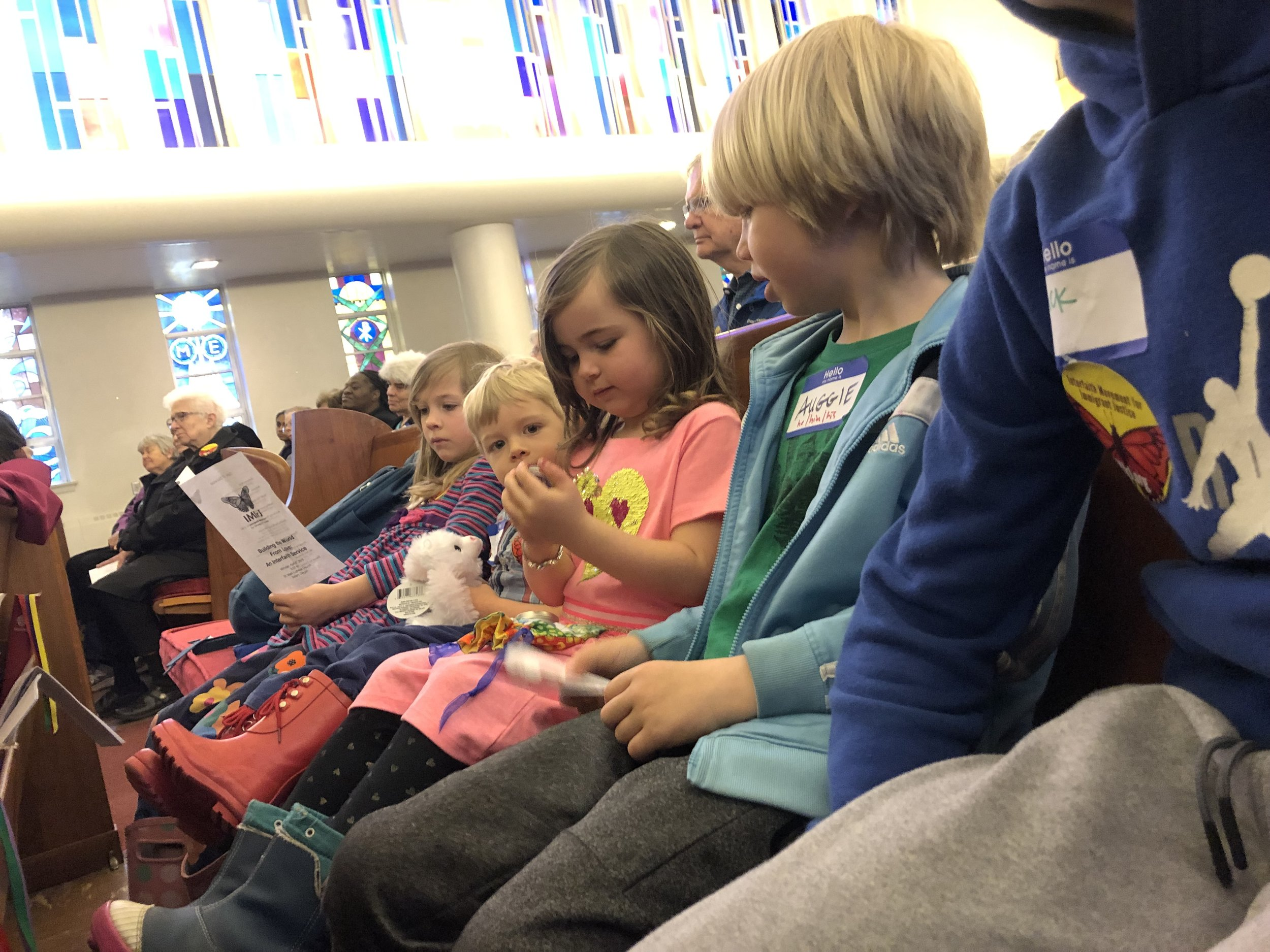 We gathered at St Mark Lutheran in Salem, OR for an interfaith service