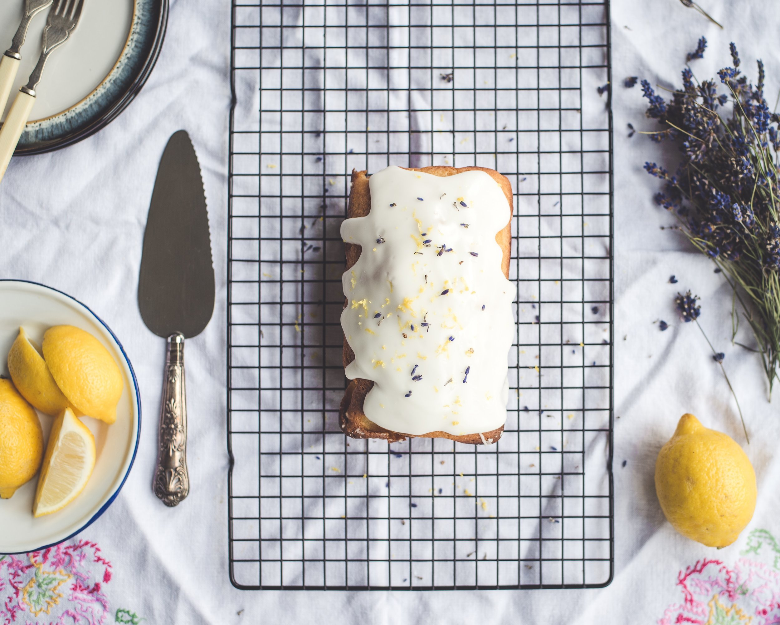 Lavender adds a lovely soft floral flavor to baked goods. The flower buds are edible.