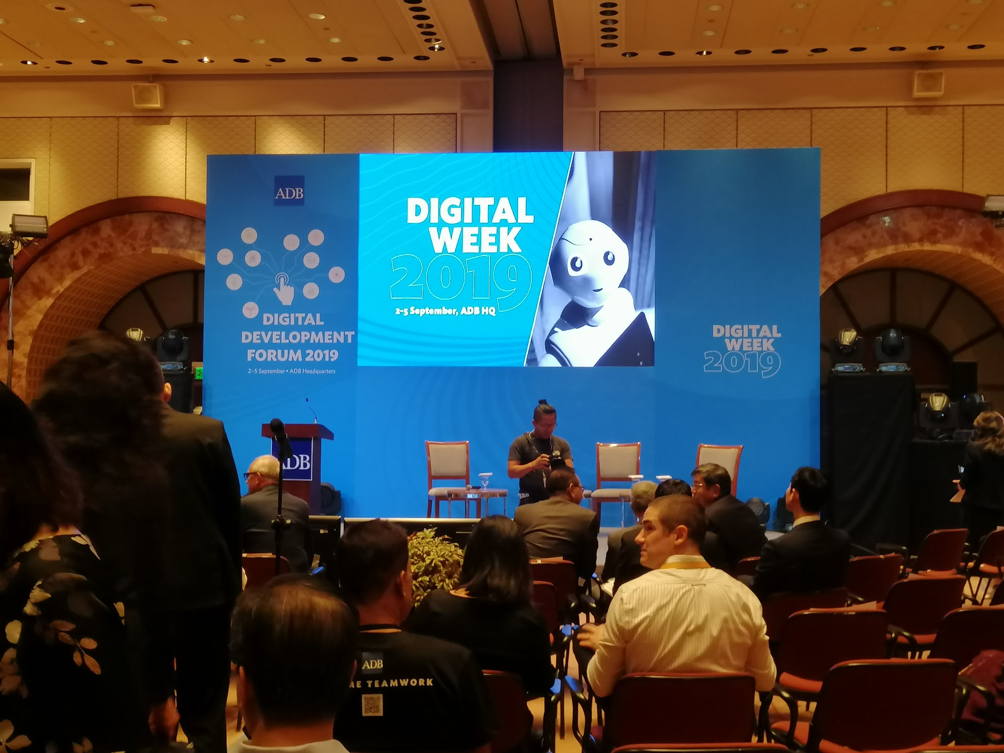 9:09 a.m. - The stage is set for the official start of Digital Week