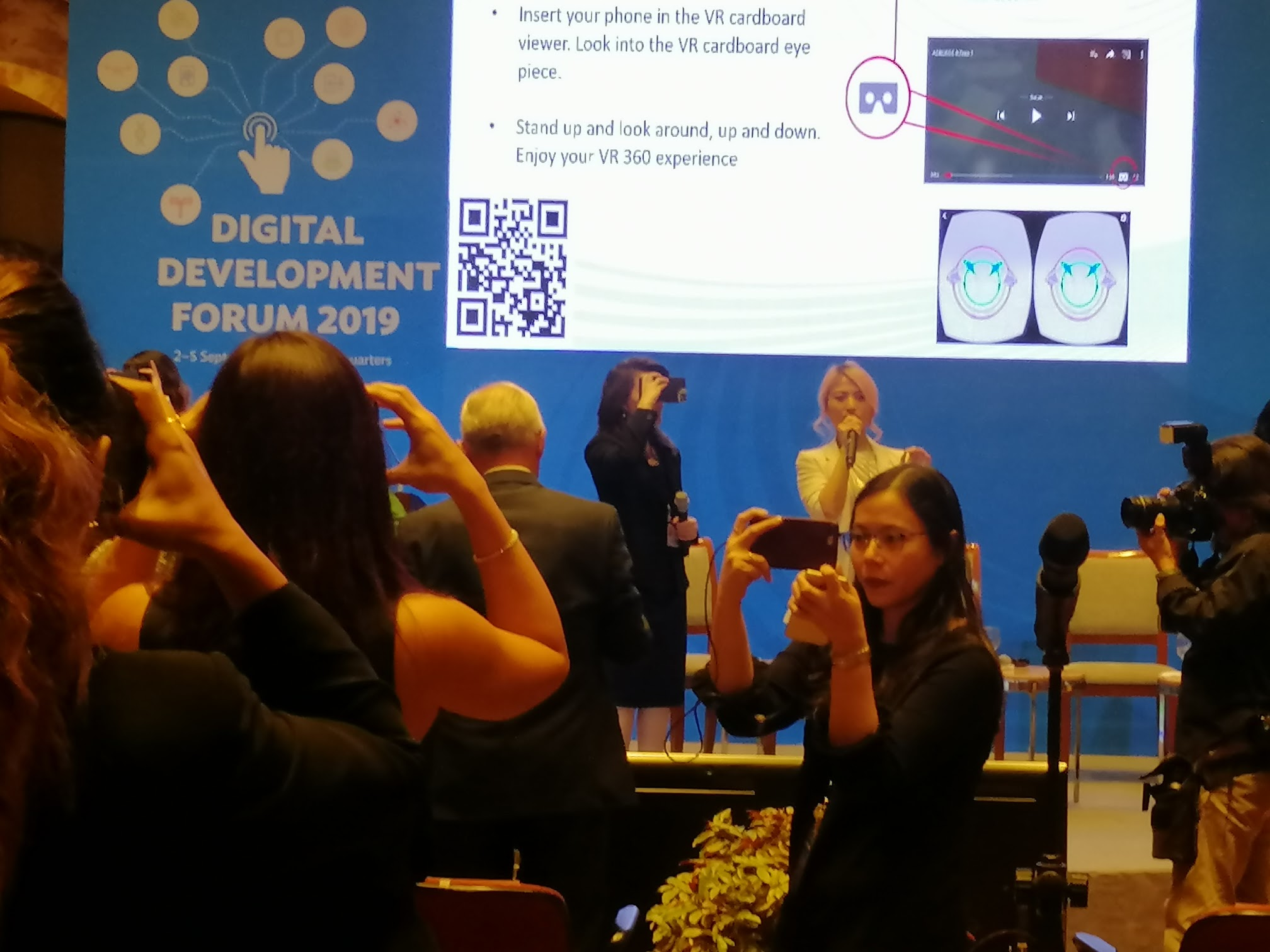 10:23 a.m. - Attendees get a glimpse of ADB's Future in Virtual Reality!