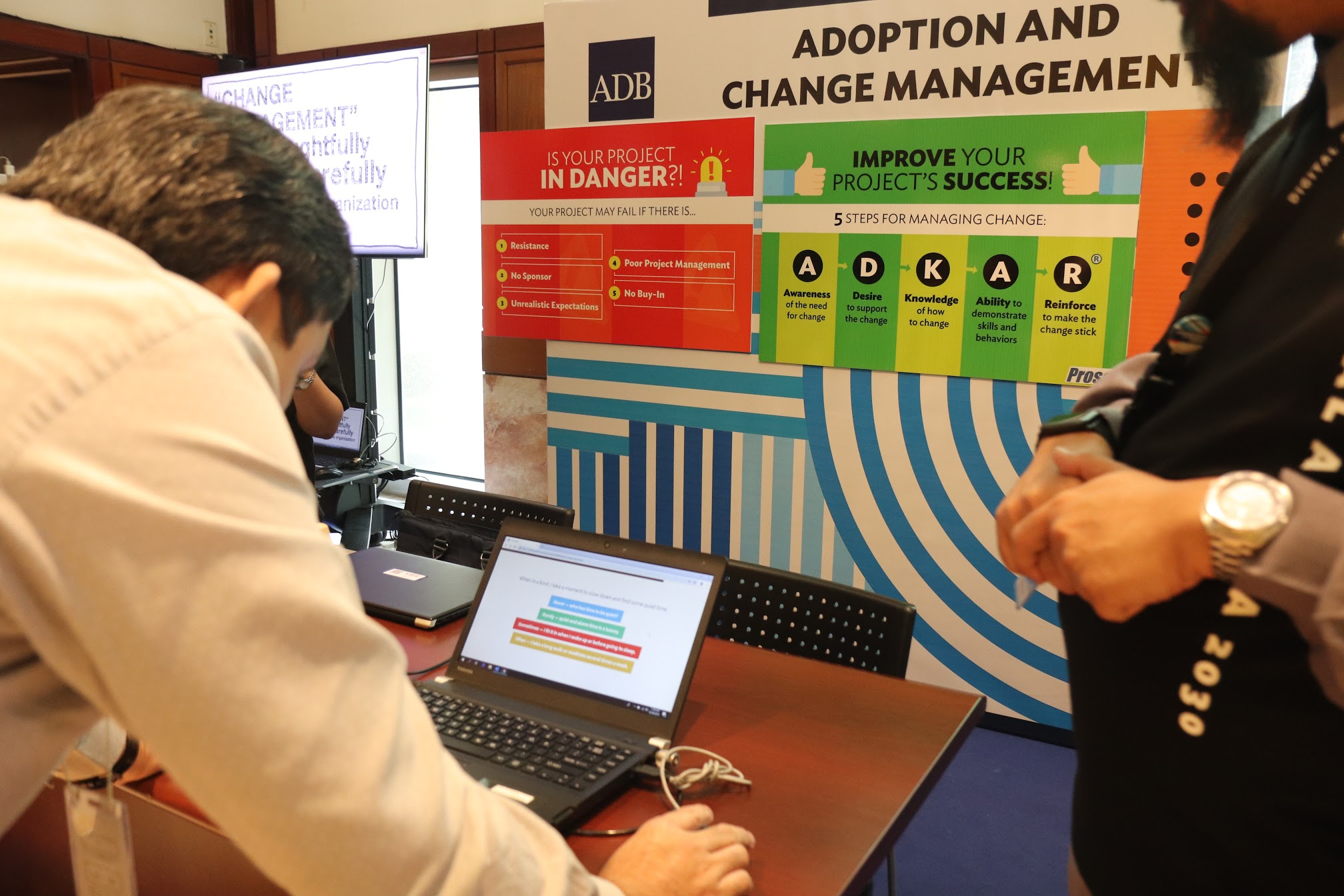 """11:14 a.m. - Take the """"What's your Change Persona Quiz"""" at the Adoption and Change Management booth!"""