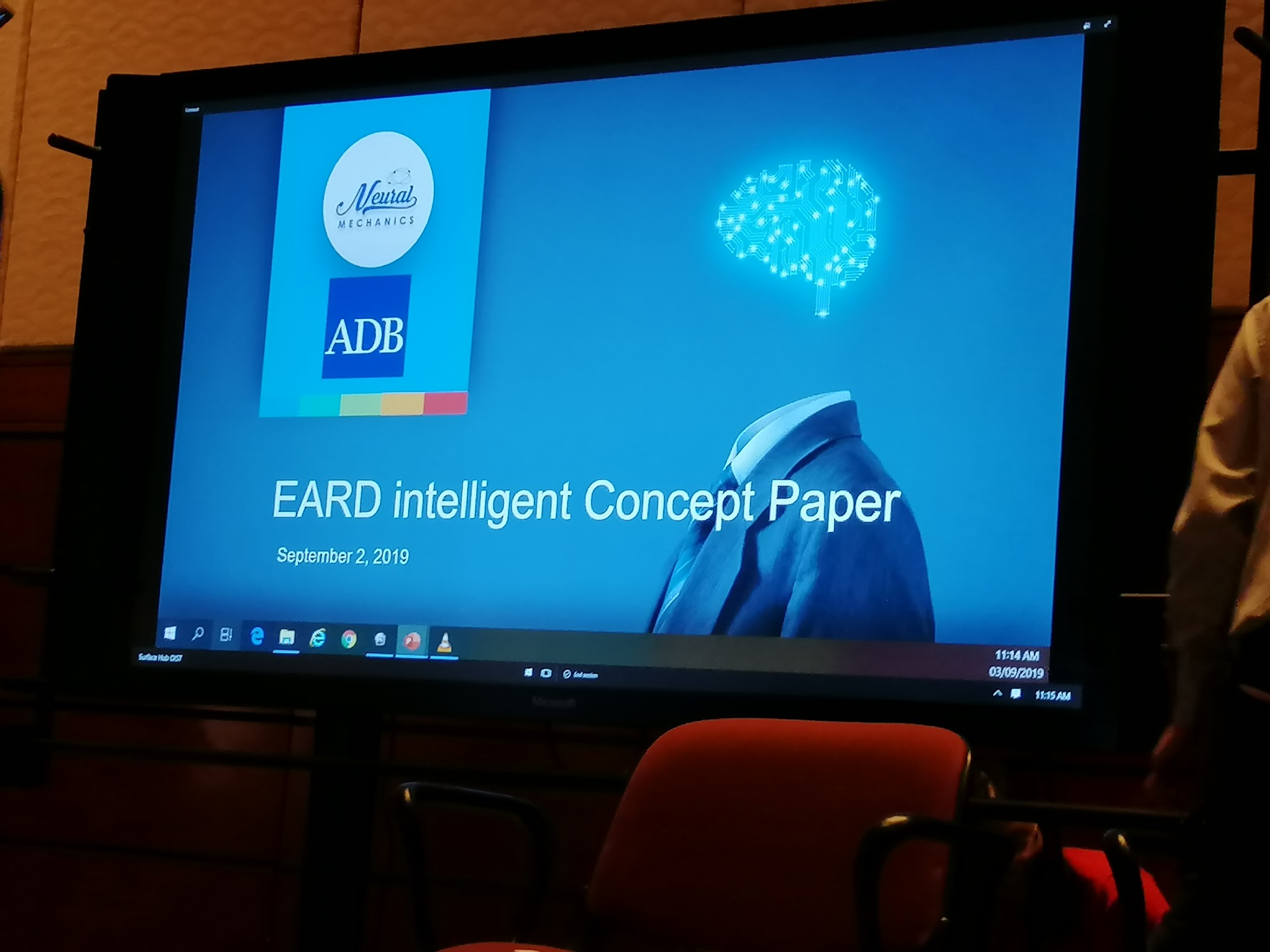 11:15 a.m. - The next session is starting soon! Watch and learn from NMI as they tackle Artificial Intelligence for Operations, particularly the Sandbox Project for Operations - EARD.