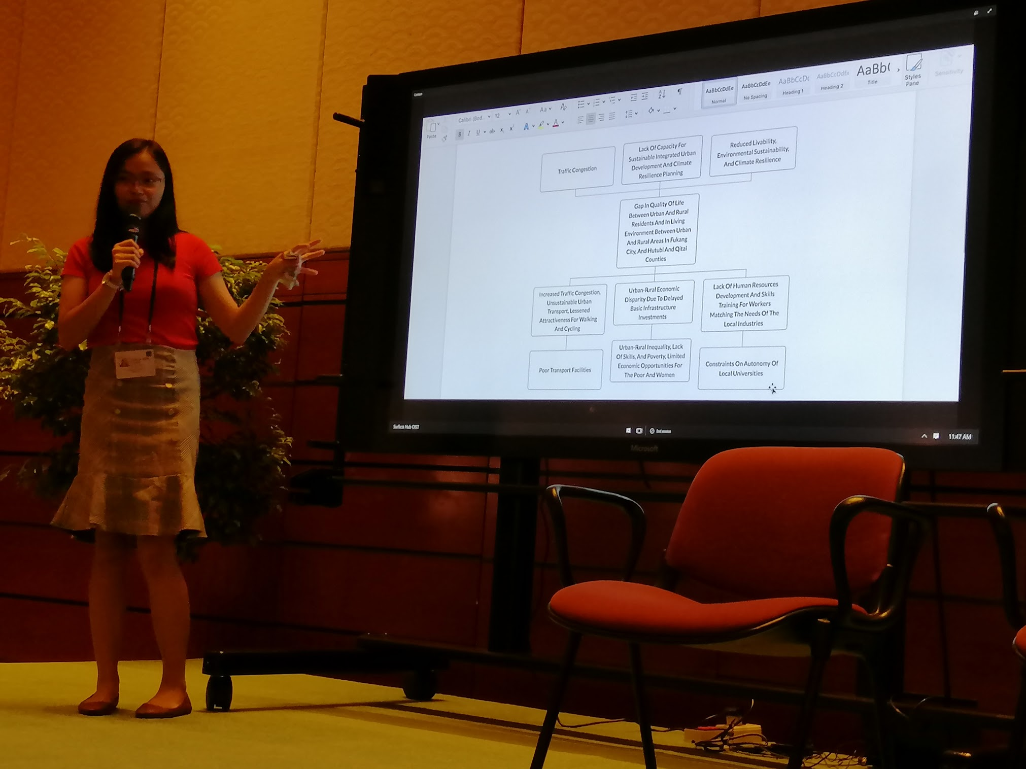 11:43 a.m. - NMI does a demo of their working model for the problem tree generator.