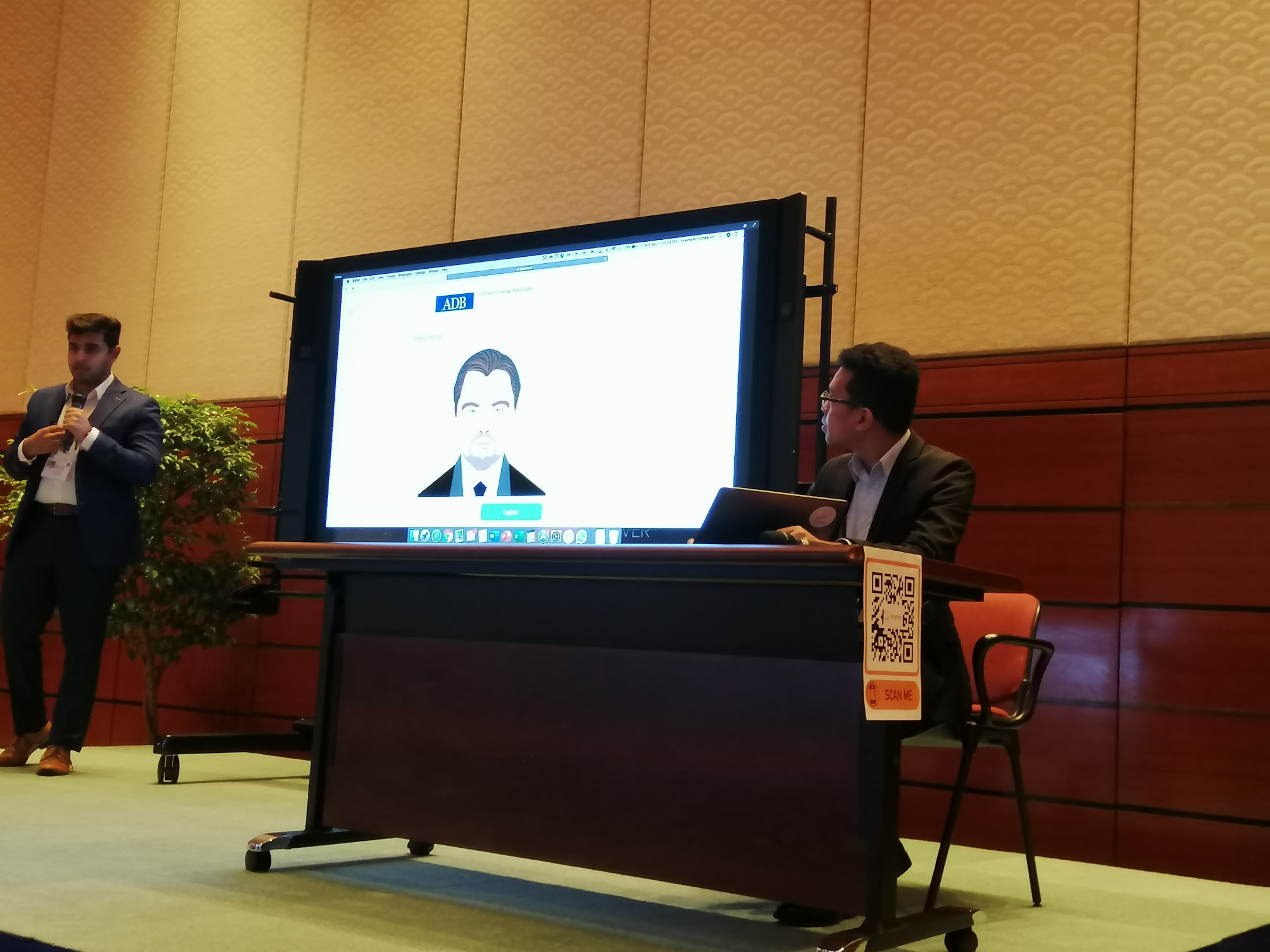 1:55 p.m. - Impress.ai provides a live demo of their chatbot for ADB and showcases its features and capabilities.