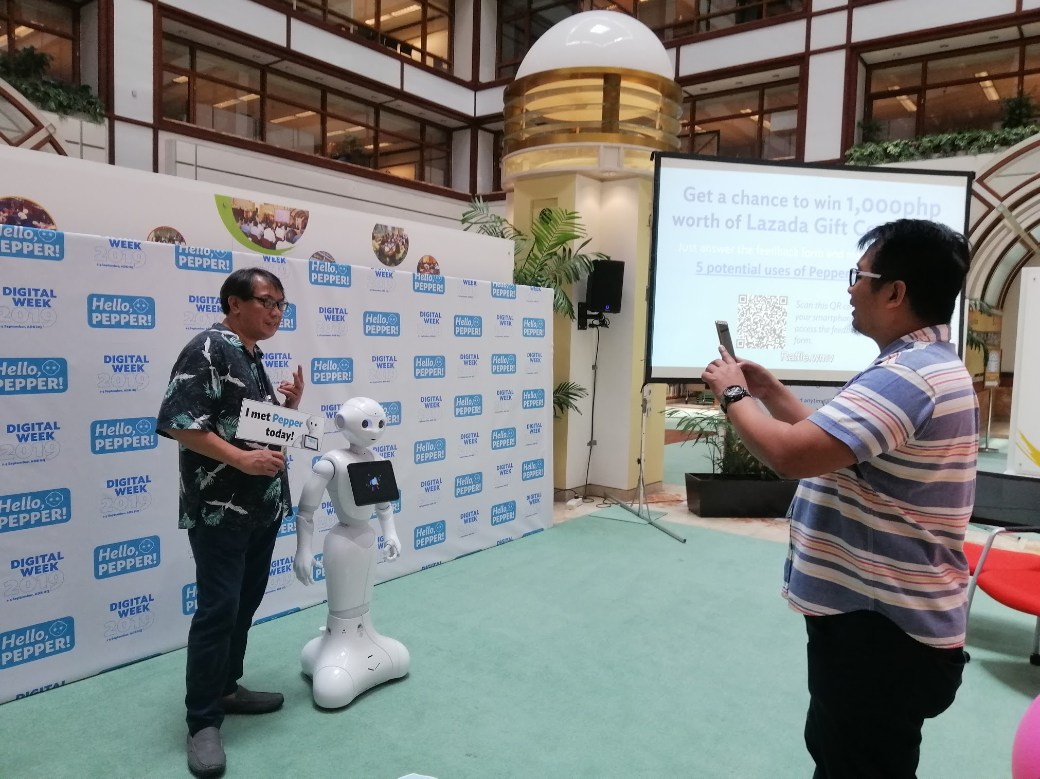 11:35 a.m. - Mini sessions resume at 1:30 p.m. In the meantime, you can visit Pepper at the K-Hub and take a photo with ADB's first humanoid!