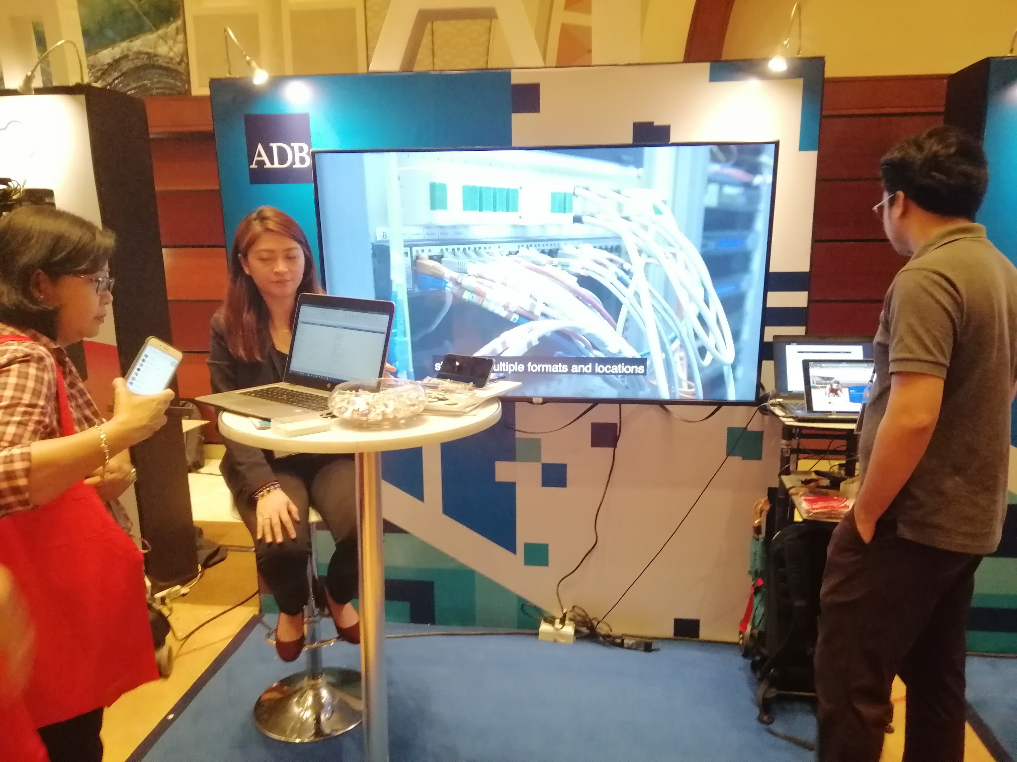 12: 26 p.m. - Drop by ERNI's booth to learn more about their projects.