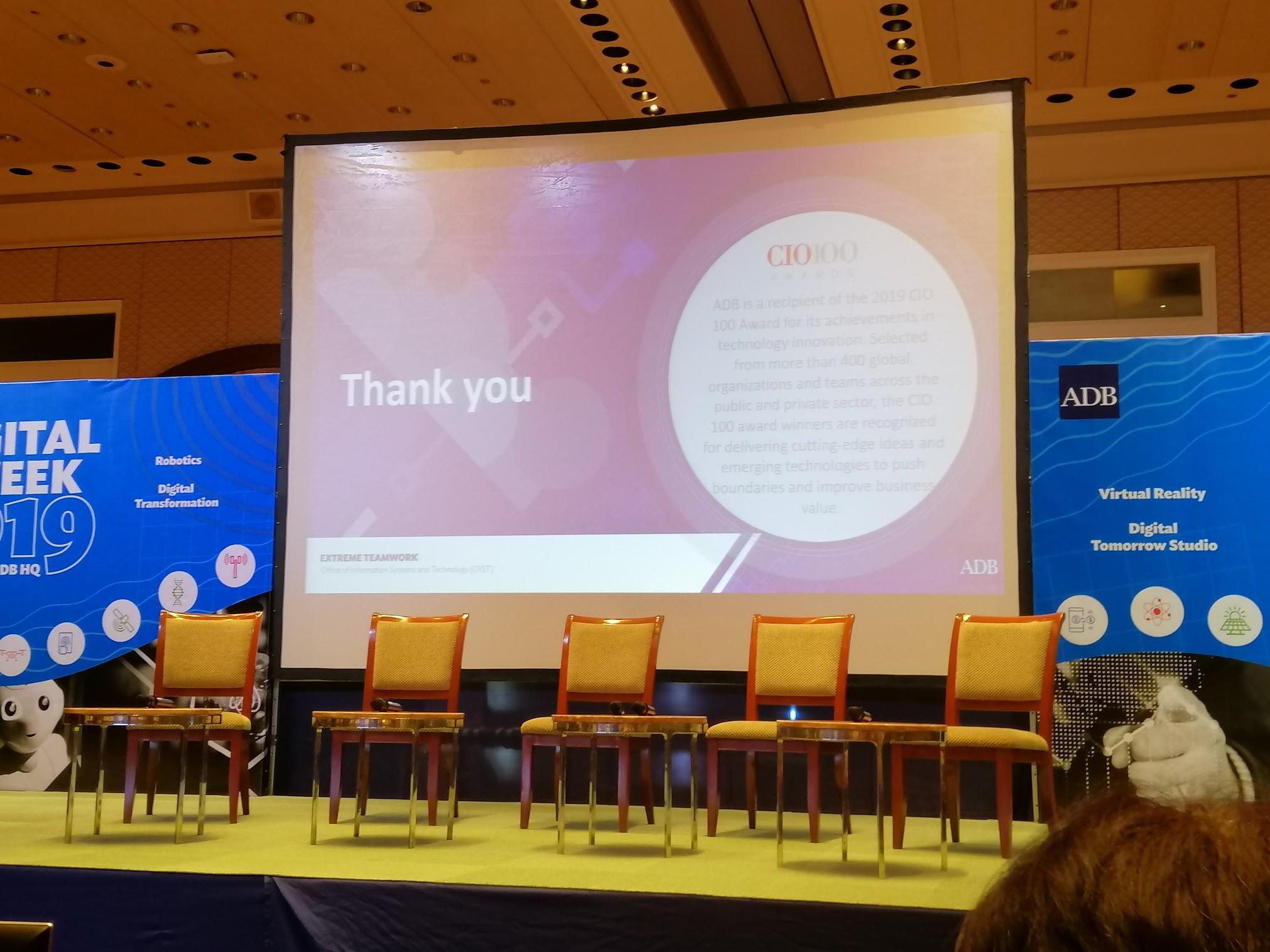 9:50 a.m. - OIST PD Shirin Hamid gives an overview of ADB's Digital Agenda 2030