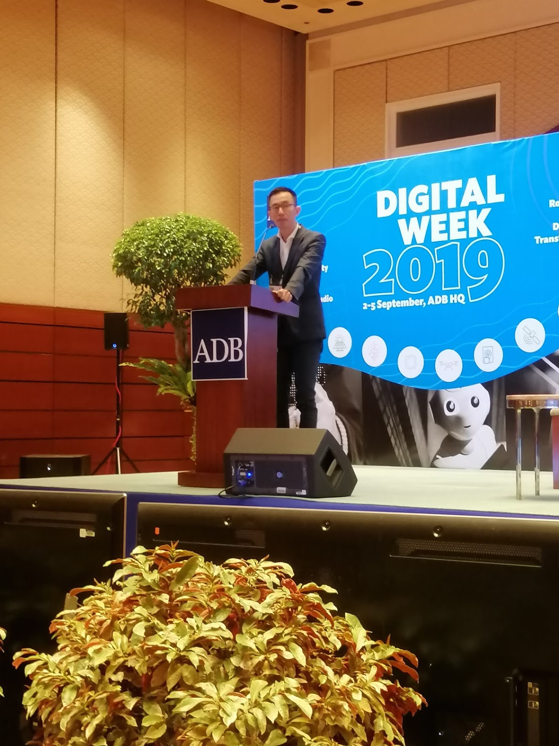 """10:08 a.m. - """"As we are digitized, we are connected to more and more people...""""Vincent Loy, Assistant Managing Director from the Monetary Authority of Singapore, tackles Cybersecurity and Privacy in the Digital Era"""