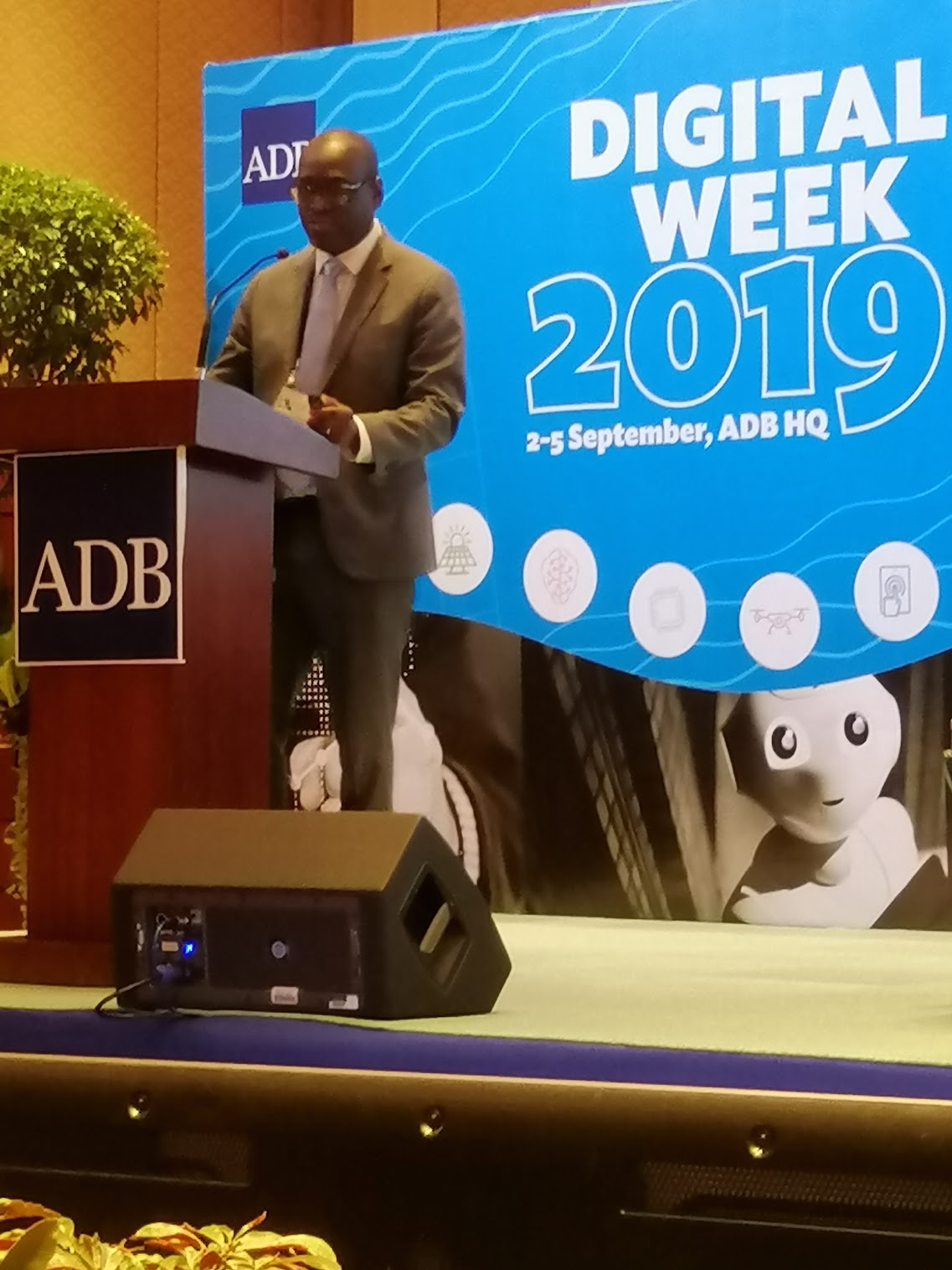 """10:33 a.m. - """"The most difficult part was getting the whole organization in-sync.""""Peppin Cyriaque Vougo, Director of IT at the African Development Bank talks about Corporate and Administrative Systems Transformation Journey."""