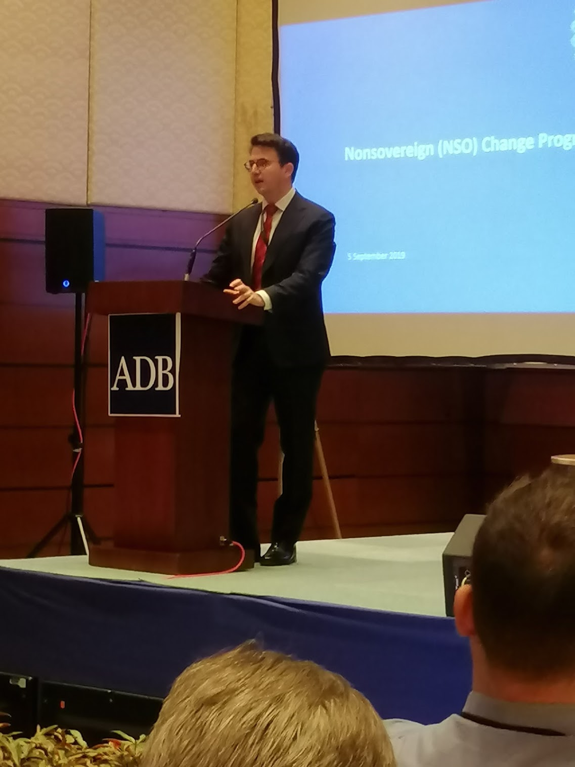 1:55 p.m. - Scott Roberts, Principal Investment Specialist for PSOD shows the systems existing within ADB and the possibility that they can be integrated as a whole.